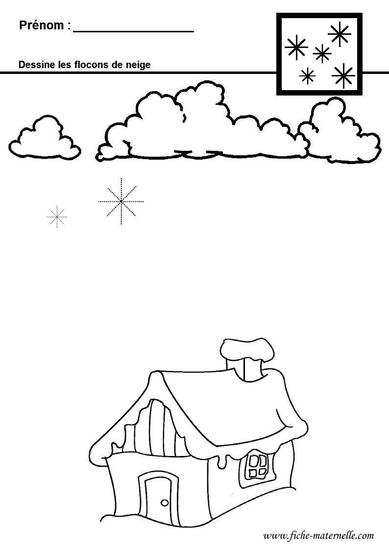 Graphisme en maternelle - Dessiner un flocon de neige ...