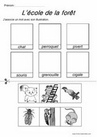 comptine illustr e l 39 cole de la for t pour l 39 apprentissage de l 39 alphabet en classe de maternelle. Black Bedroom Furniture Sets. Home Design Ideas