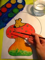 Peindre le hérisson
