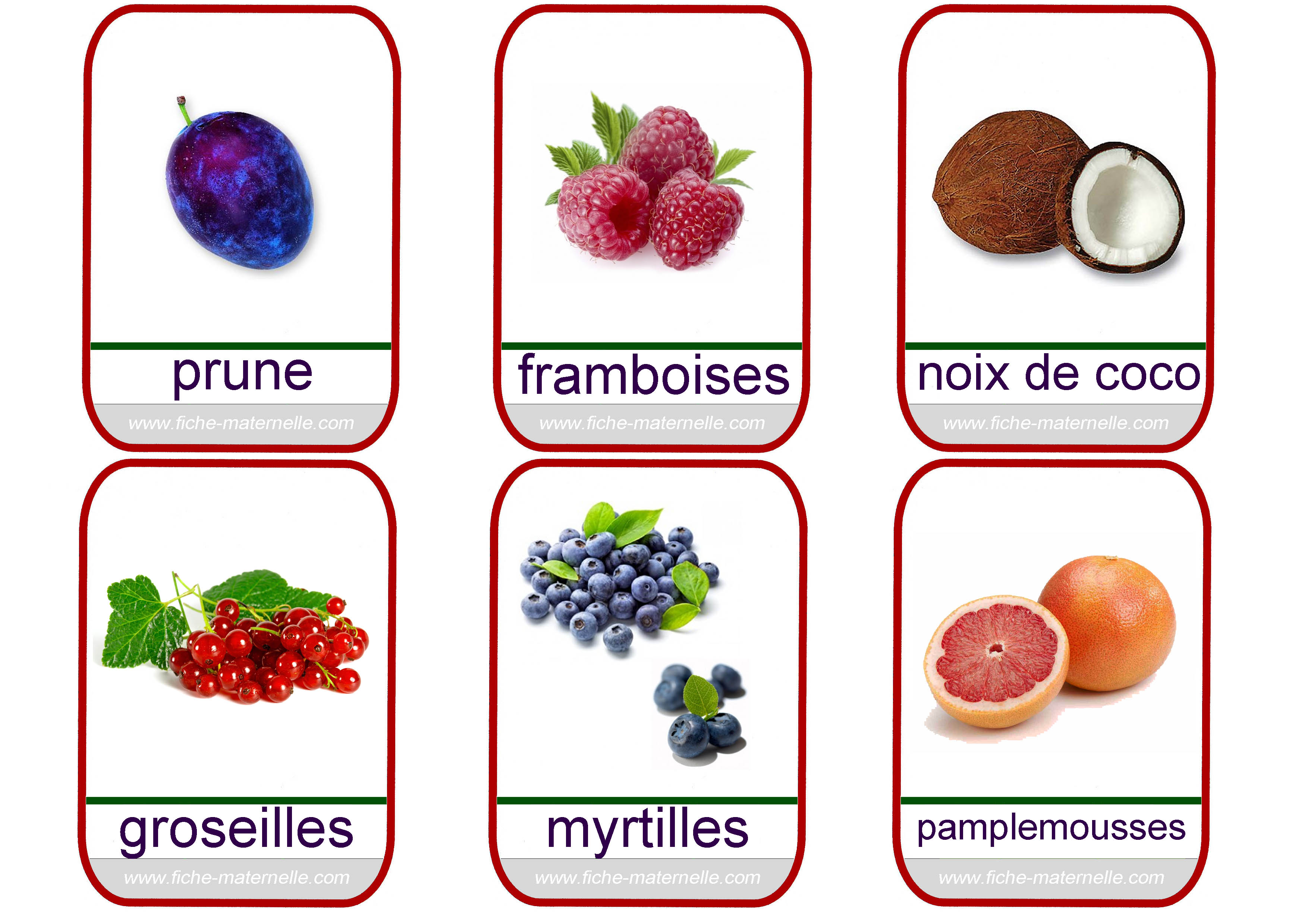 Imagier les fruits