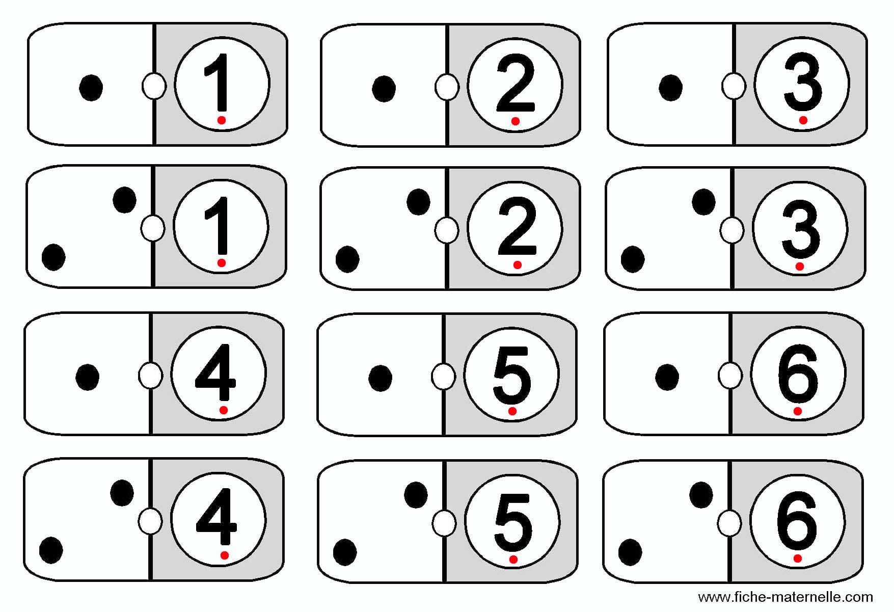 Jeux math matiques pour apprendre compter en maternelle - Coloriage domino ...
