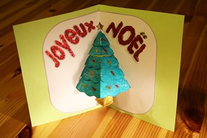 Carte de noel en petite section
