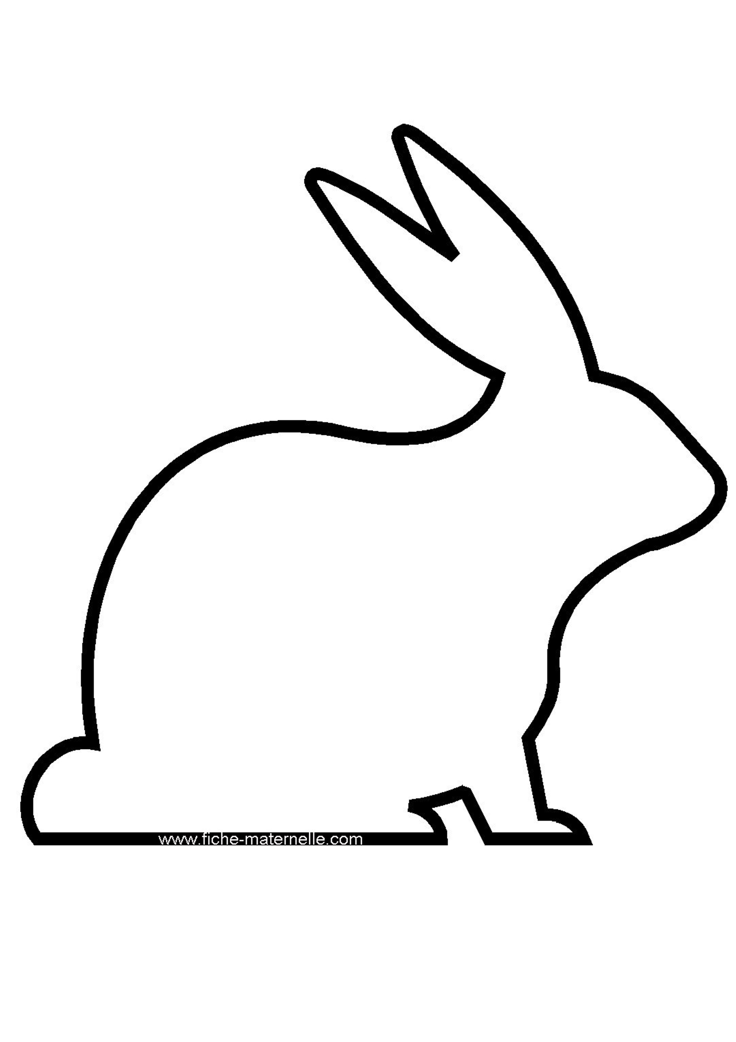 Coloriage - Un lapin dessin ...