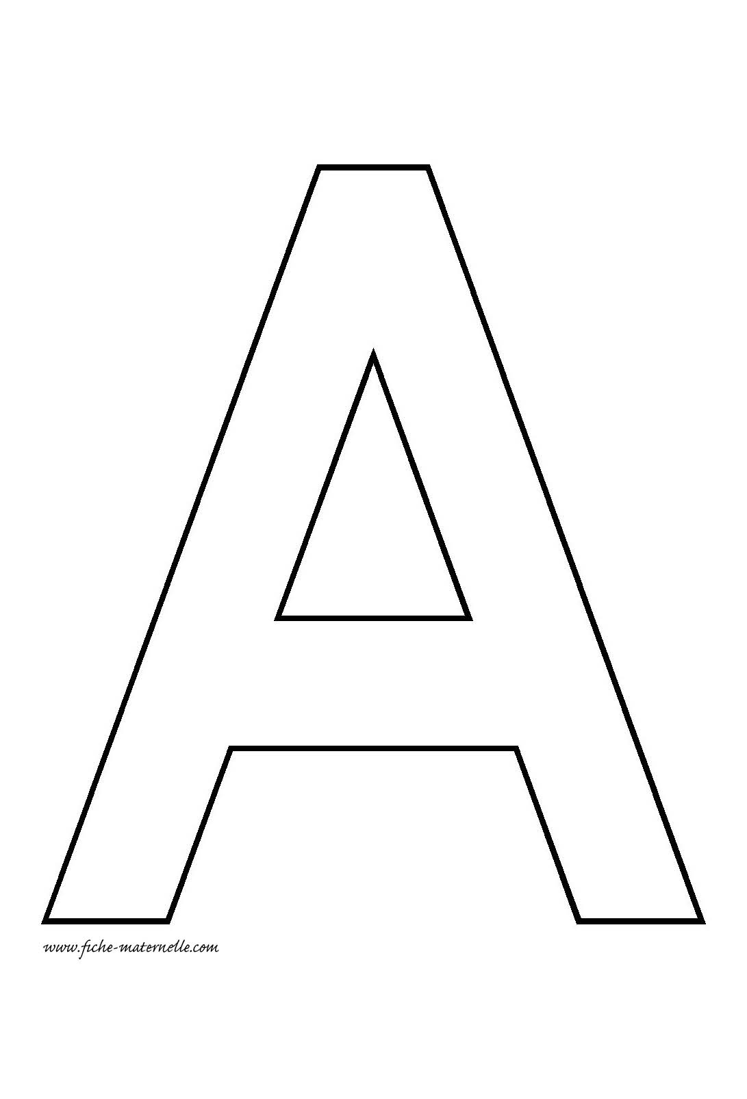 lettres capitales a - Lettre Majuscule A Imprimer