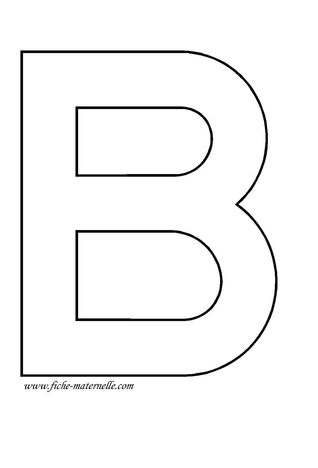 Lettre de l 39 alphabet d corer la lettre capitale b - Lettres a imprimer ...