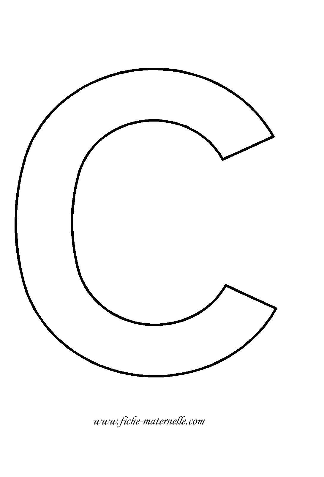 Lettre De Lalphabet à Décorer Lettre C