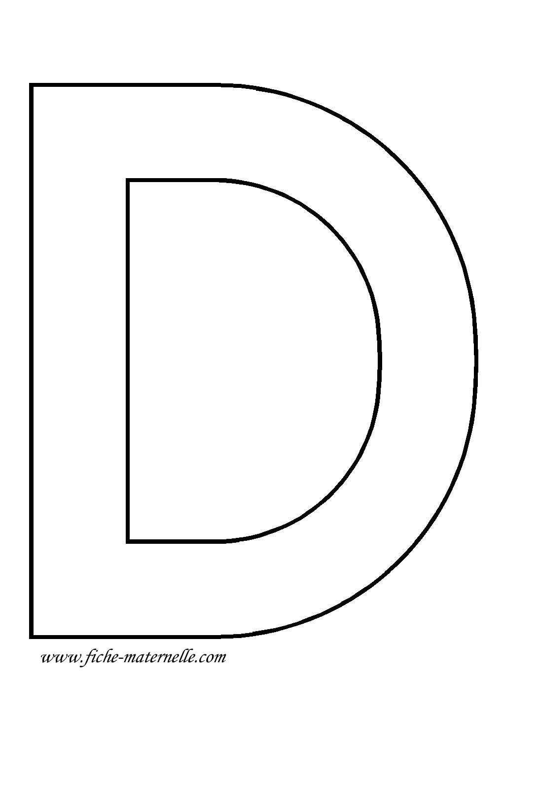 Lettre de l 39 alphabet d corer lettre d - Lettres de l alphabet a decorer ...