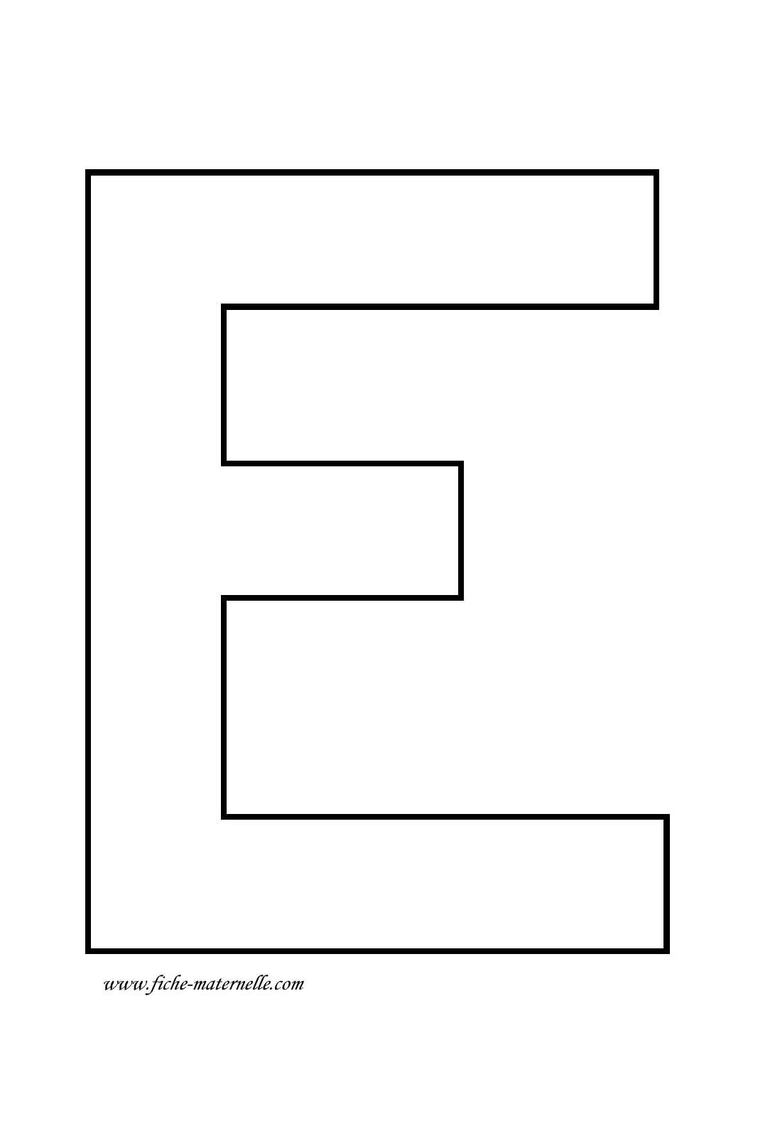 Lettre de l 39 alphabet d corer lettre e - Lettre de l alphabet en majuscule a imprimer ...