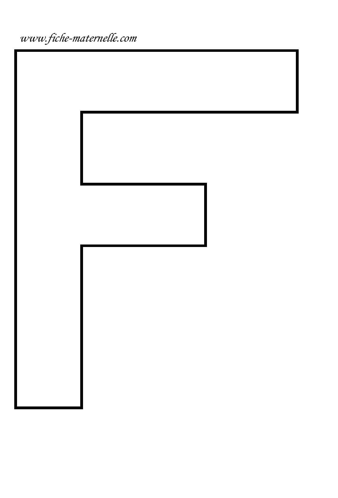 lettre f Lettre de l'alphabet à décorer. Lettre F lettre f