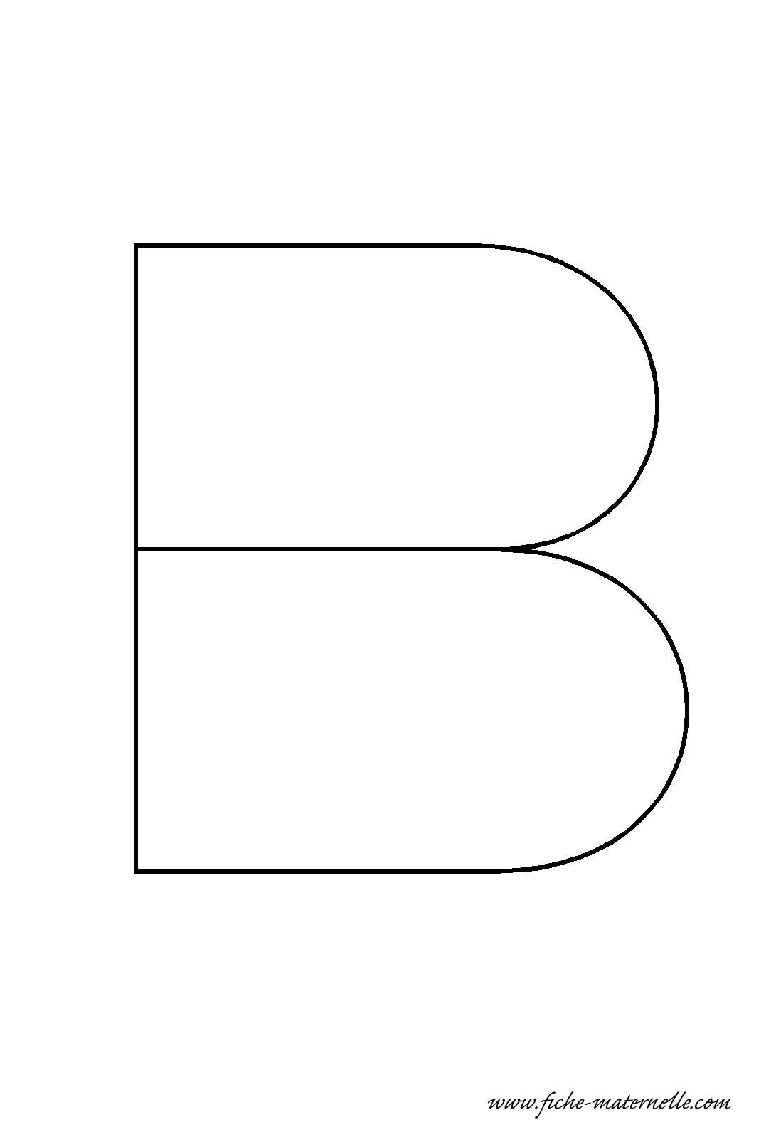Lettre de l 39 alphabet d corer la lettre capitale b fil de fer - Lettres de l alphabet a decorer ...