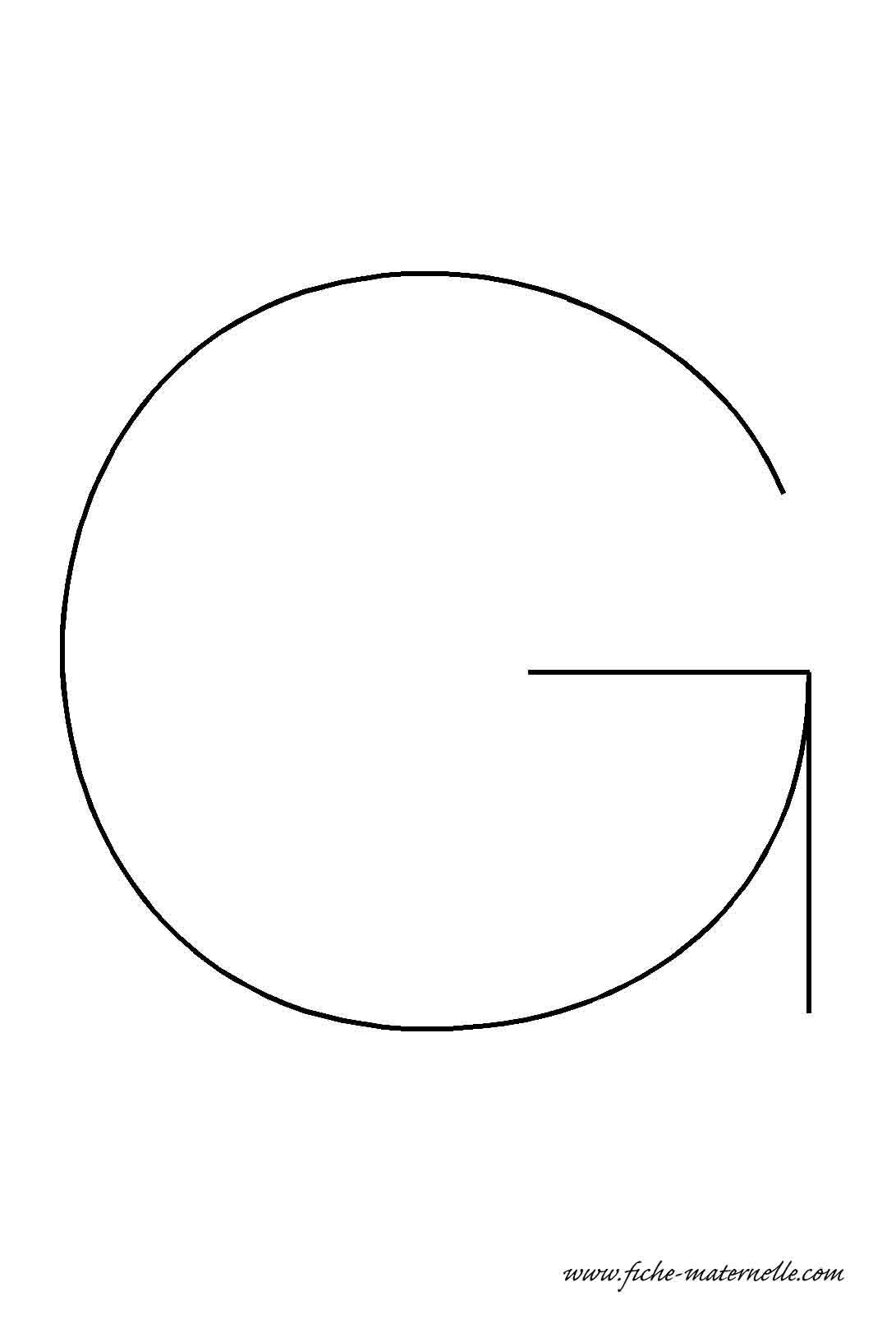 Lettre de l 39 alphabet d corer la lettre capitale g fil de fer - Lettres de l alphabet a decorer ...