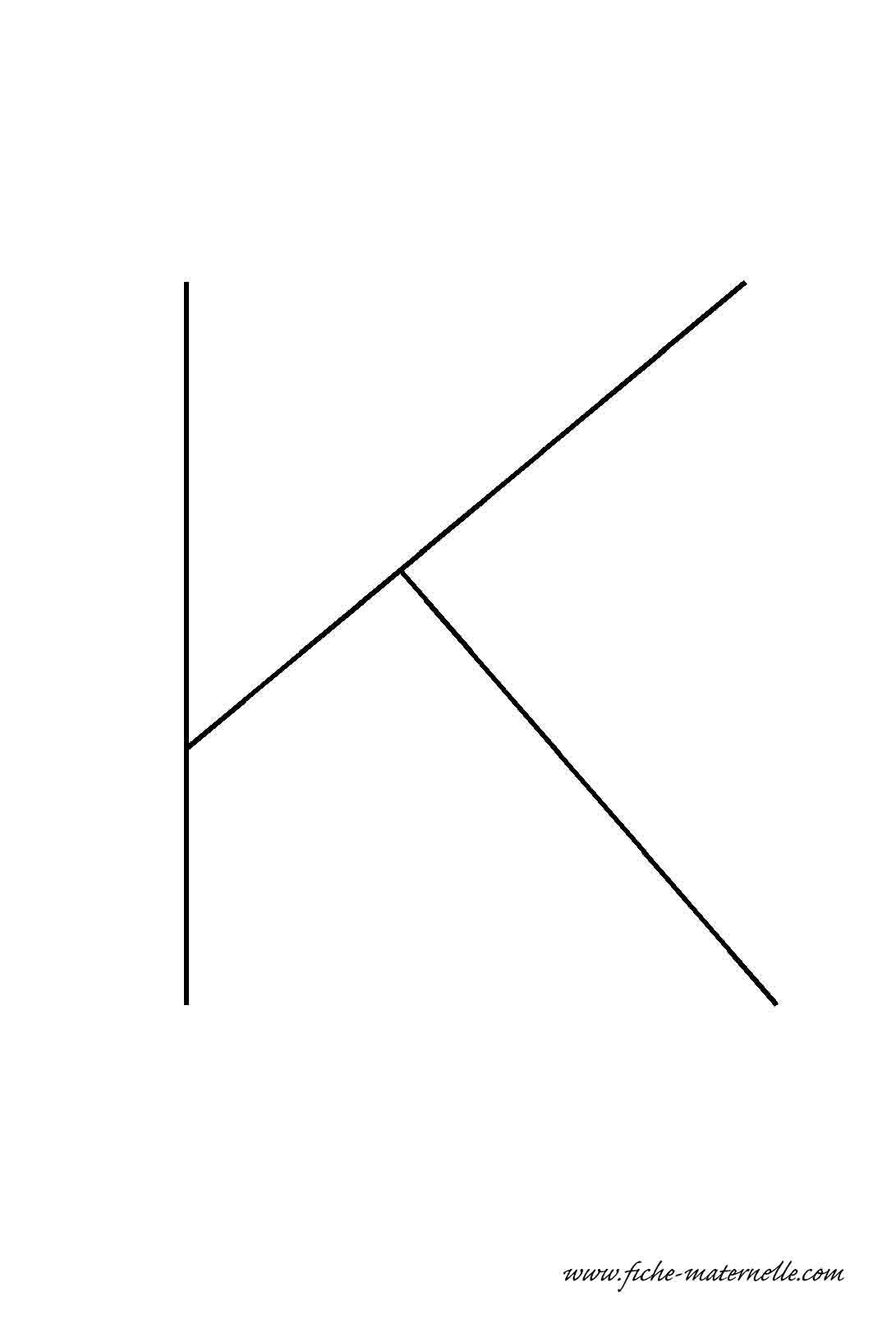 Lettre de l 39 alphabet d corer la lettre capitale k fil de fer - Lettres de l alphabet a decorer ...