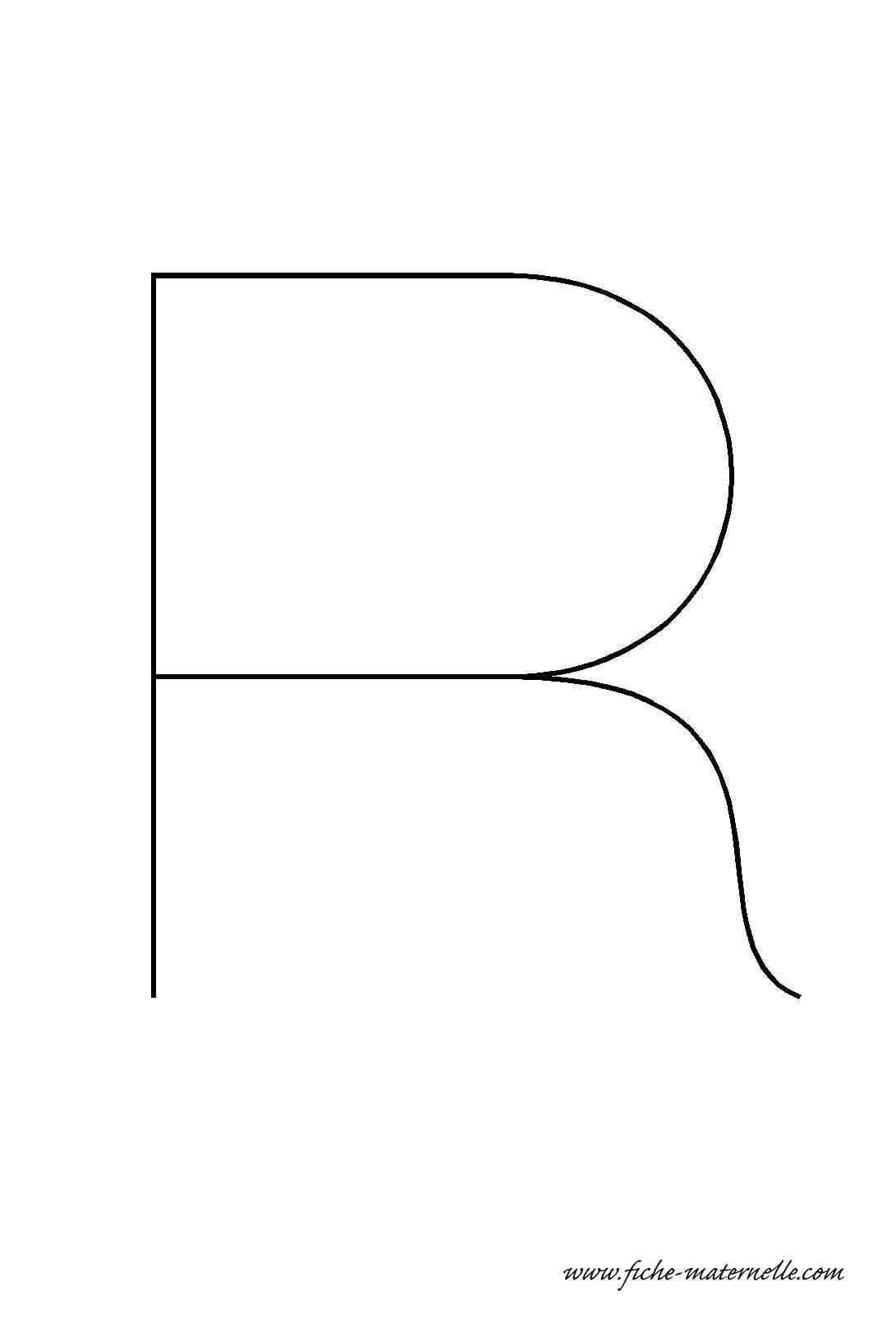Lettre de l 39 alphabet d corer la lettre capitale r fil de fer - Lettres de l alphabet a decorer ...