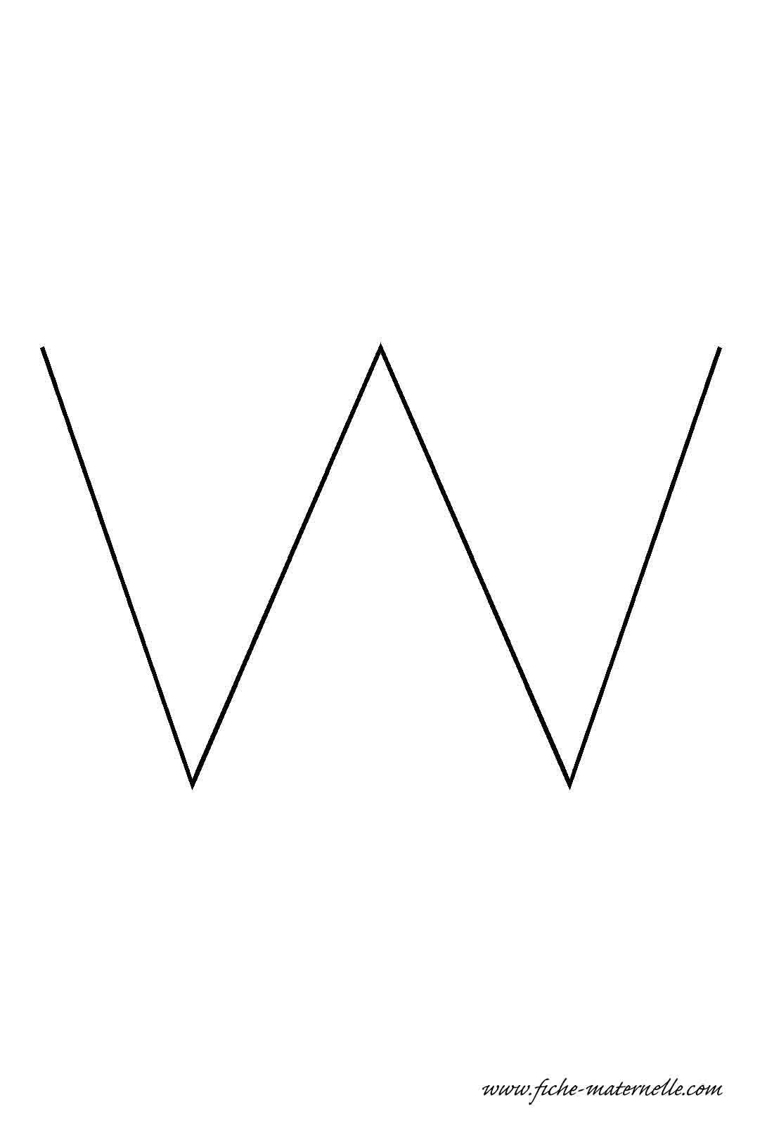 Lettre de l 39 alphabet d corer la lettre capitale w fil de fer - Lettres de l alphabet a decorer ...