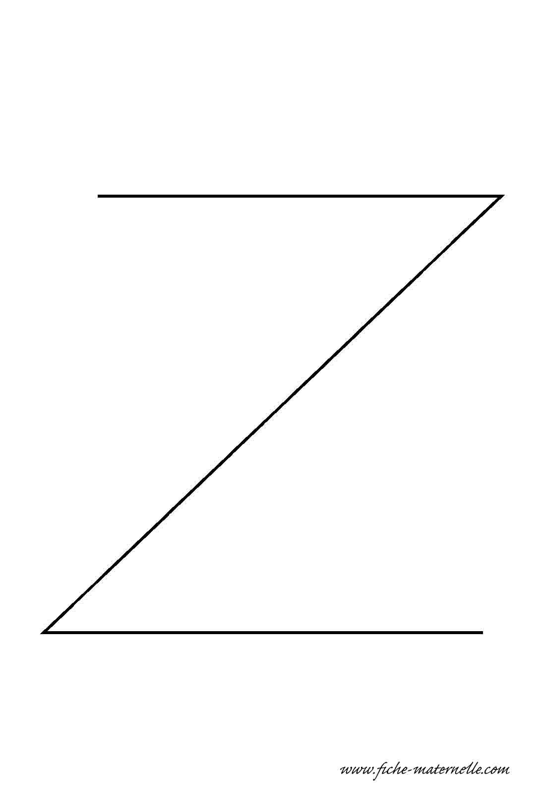 Lettre de l 39 alphabet d corer la lettre capitale z fil de fer - Lettres de l alphabet a decorer ...