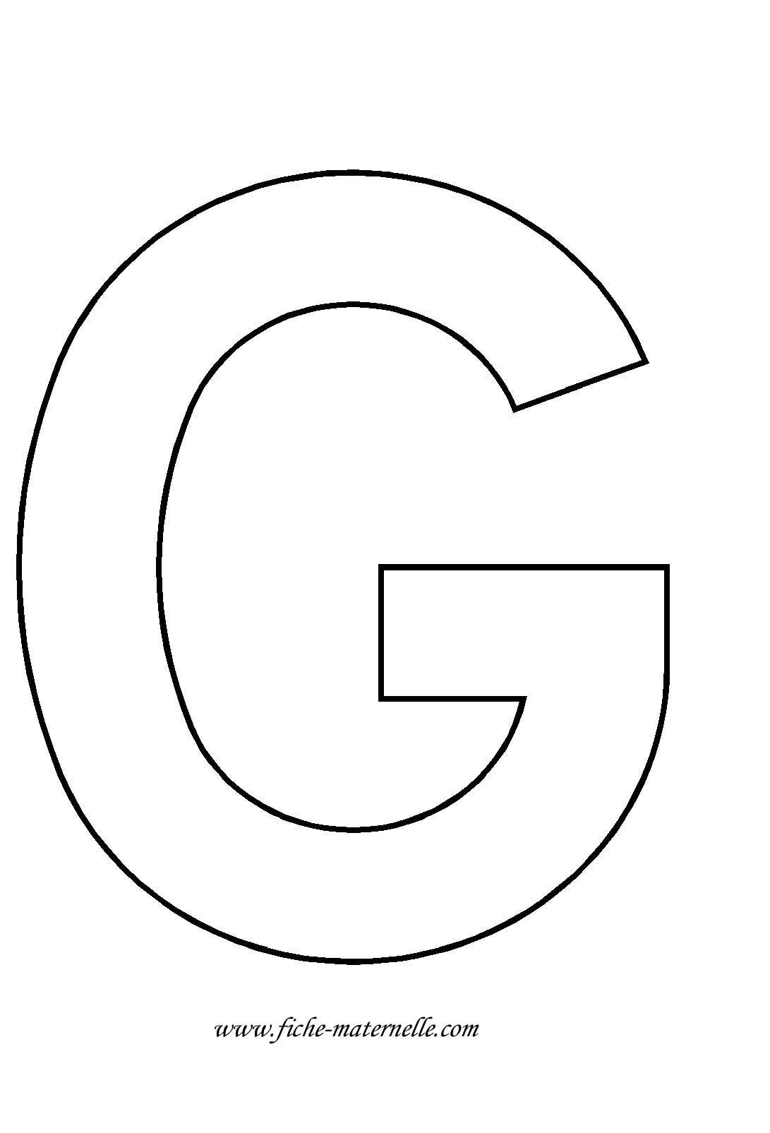 Lettre de l 39 alphabet d corer lettre g - Grande lettre alphabet a imprimer ...