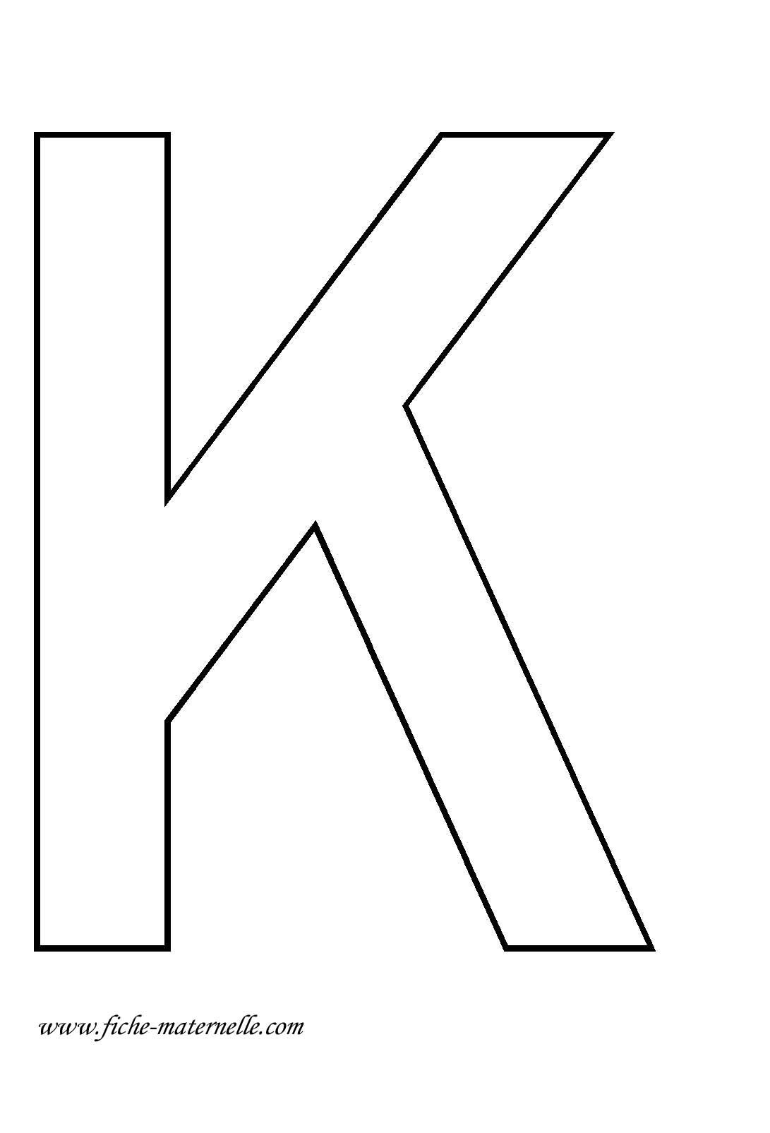 La lettre k - K en majuscule ...
