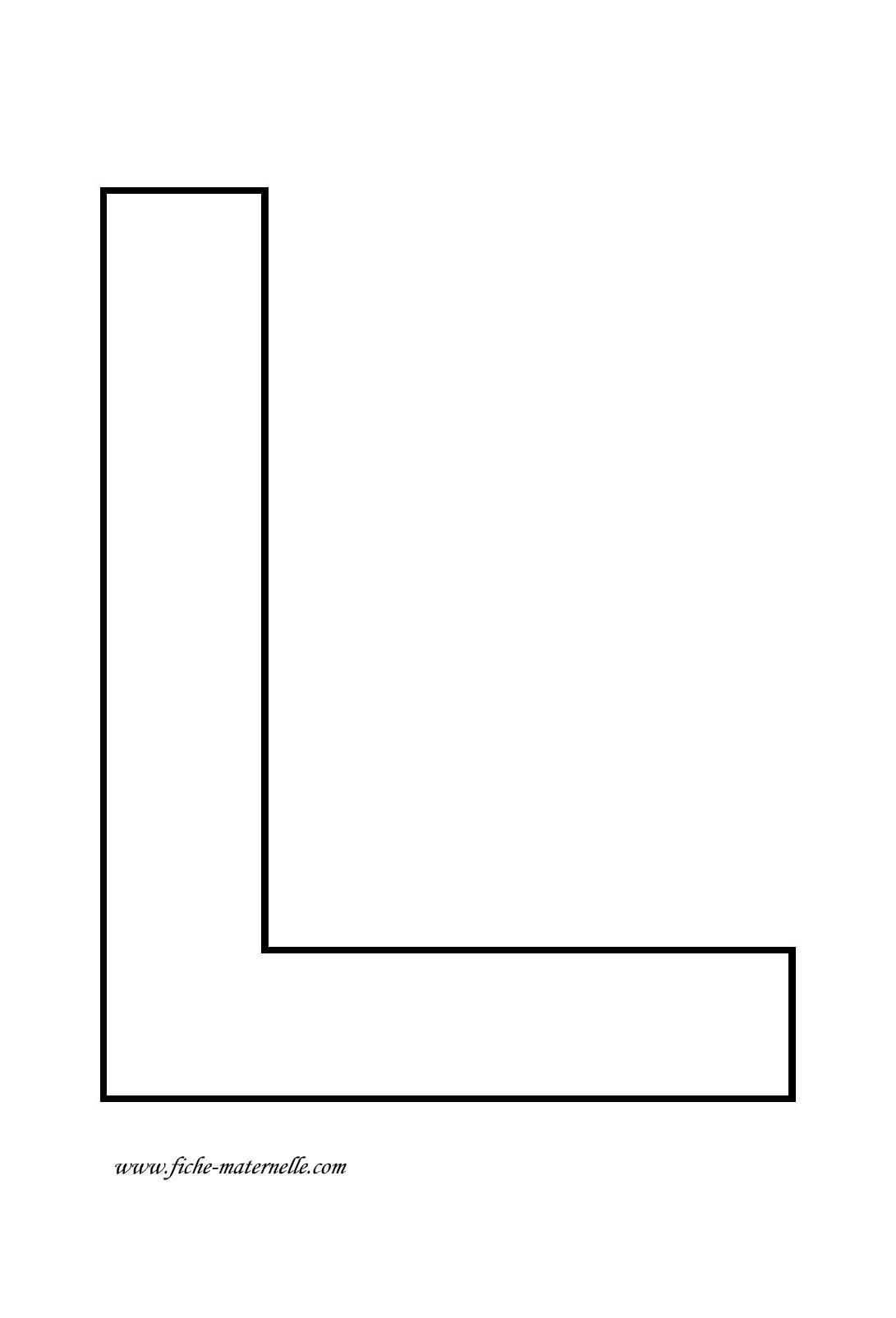 Lettre de l 39 alphabet d corer lettre l - Lettres de l alphabet a decorer ...