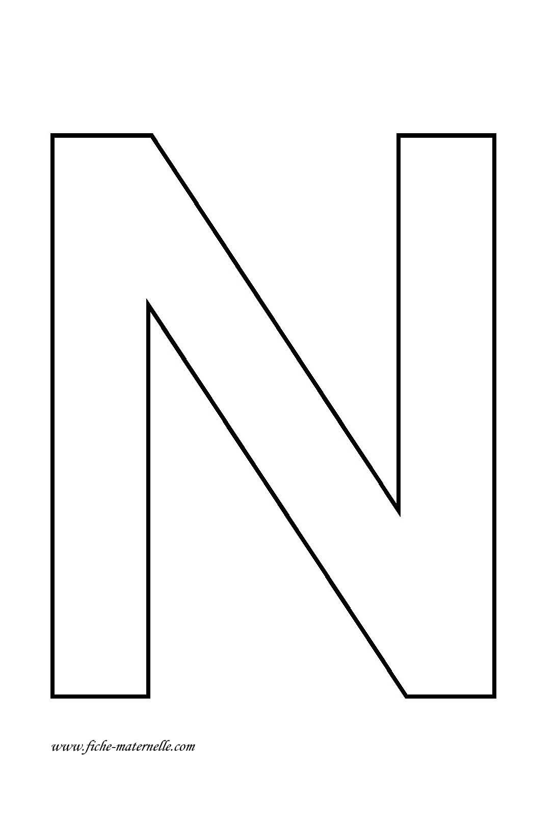 Lettre de l 39 alphabet d corer lettre n - Lettres a imprimer ...