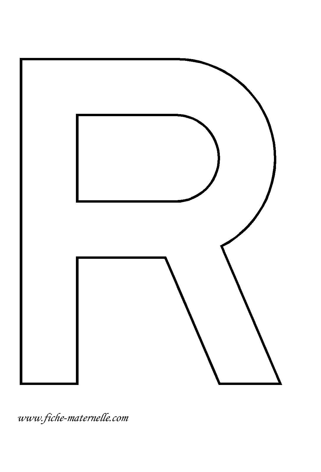 Lettre de l 39 alphabet d corer lettre r - Lettre a decouper ...