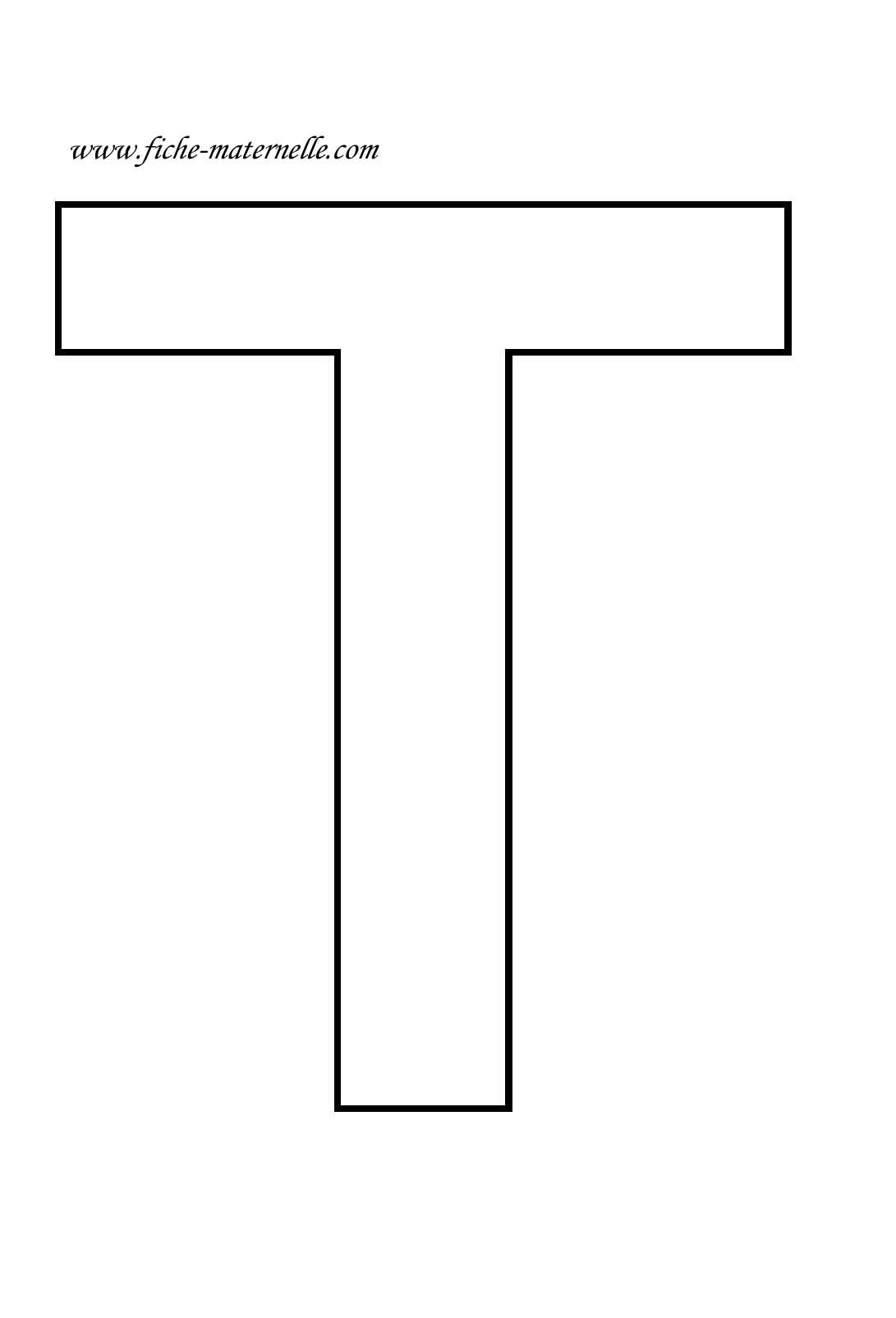 lettre vide t