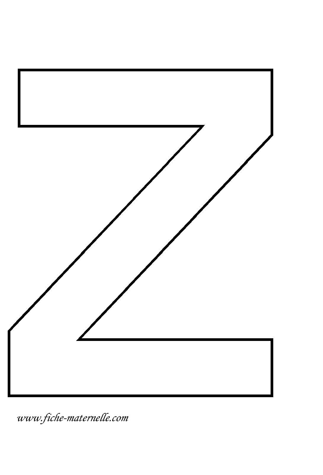 Lettre de l'alphabet à décorer. Lettre Z