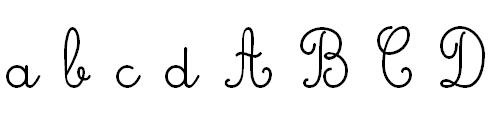 Lettres Cursives Majuscules et Minuscules Minuscules et Majuscules
