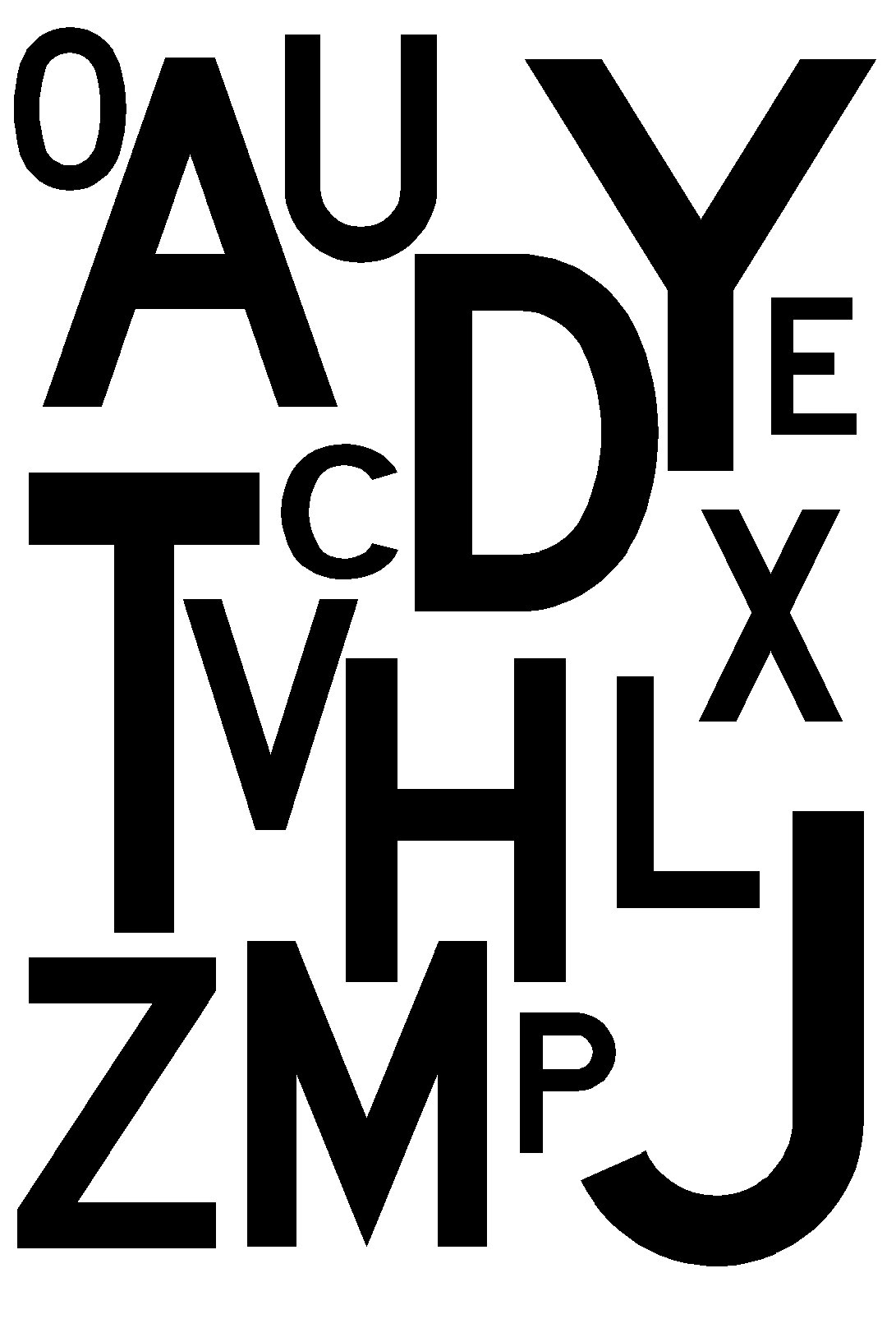 Production artistique partir des lettres de l 39 aphabet - Lettre a decouper ...