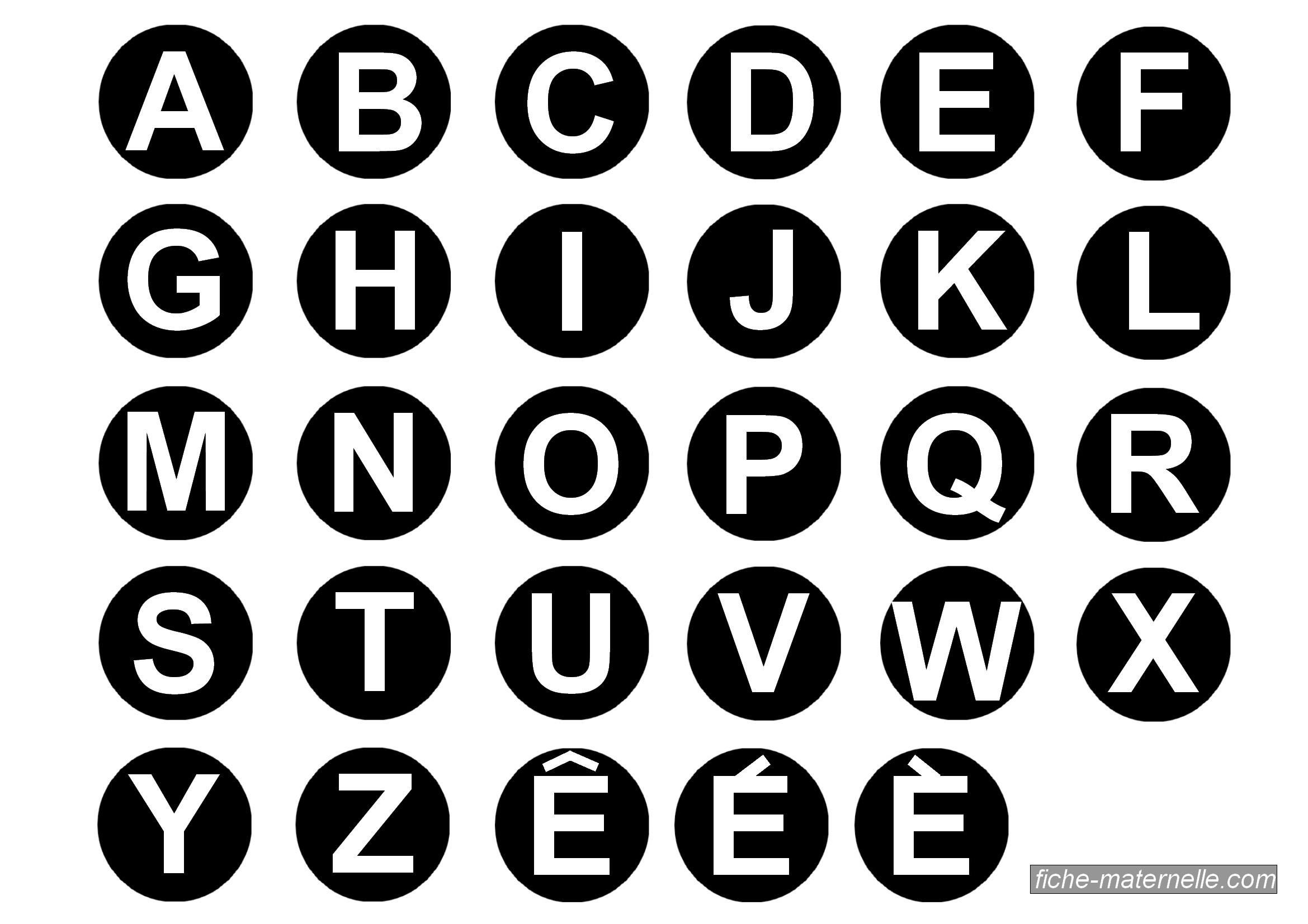 Les lettres de l 39 alphabet - Lettres alphabet maternelle ...