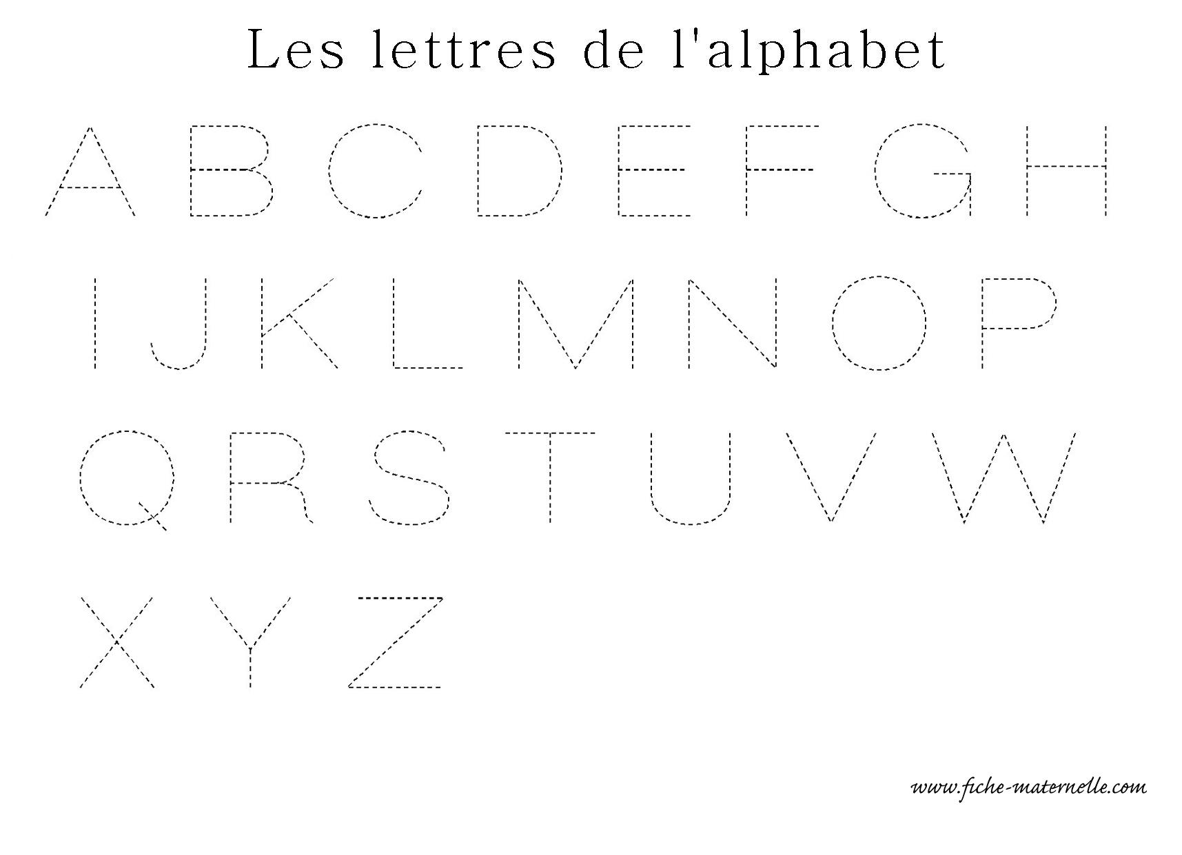 Apprendre a ecrire les lettres de l alphabet en ecriture - Alphabet majuscule a imprimer ...