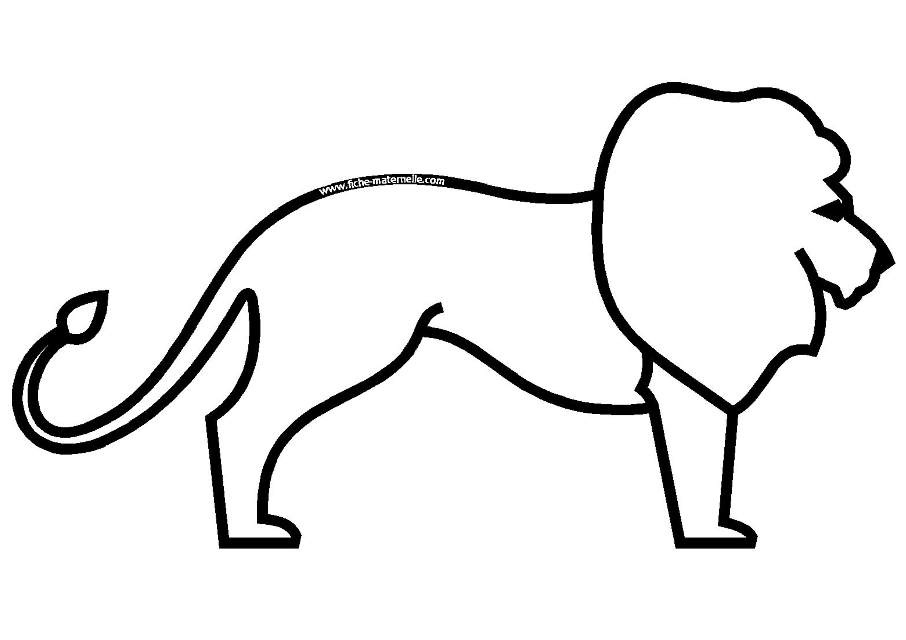 Coloriage - Lion dessin facile ...