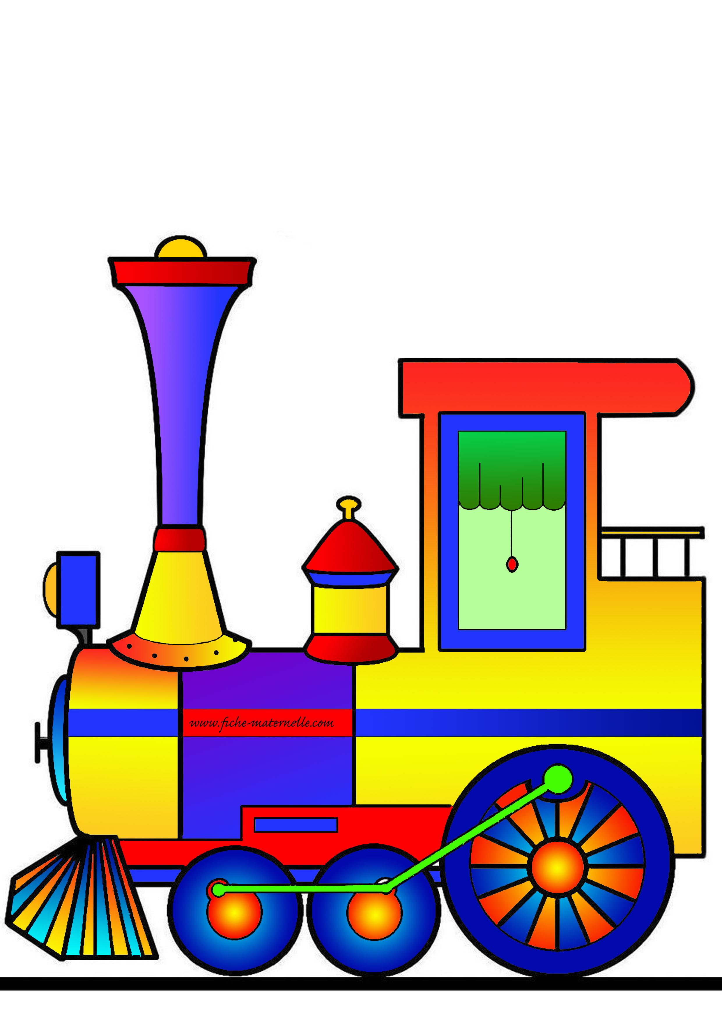 Affichage pour la classe maternelle train des anniversaires en couleur - Train en dessin ...