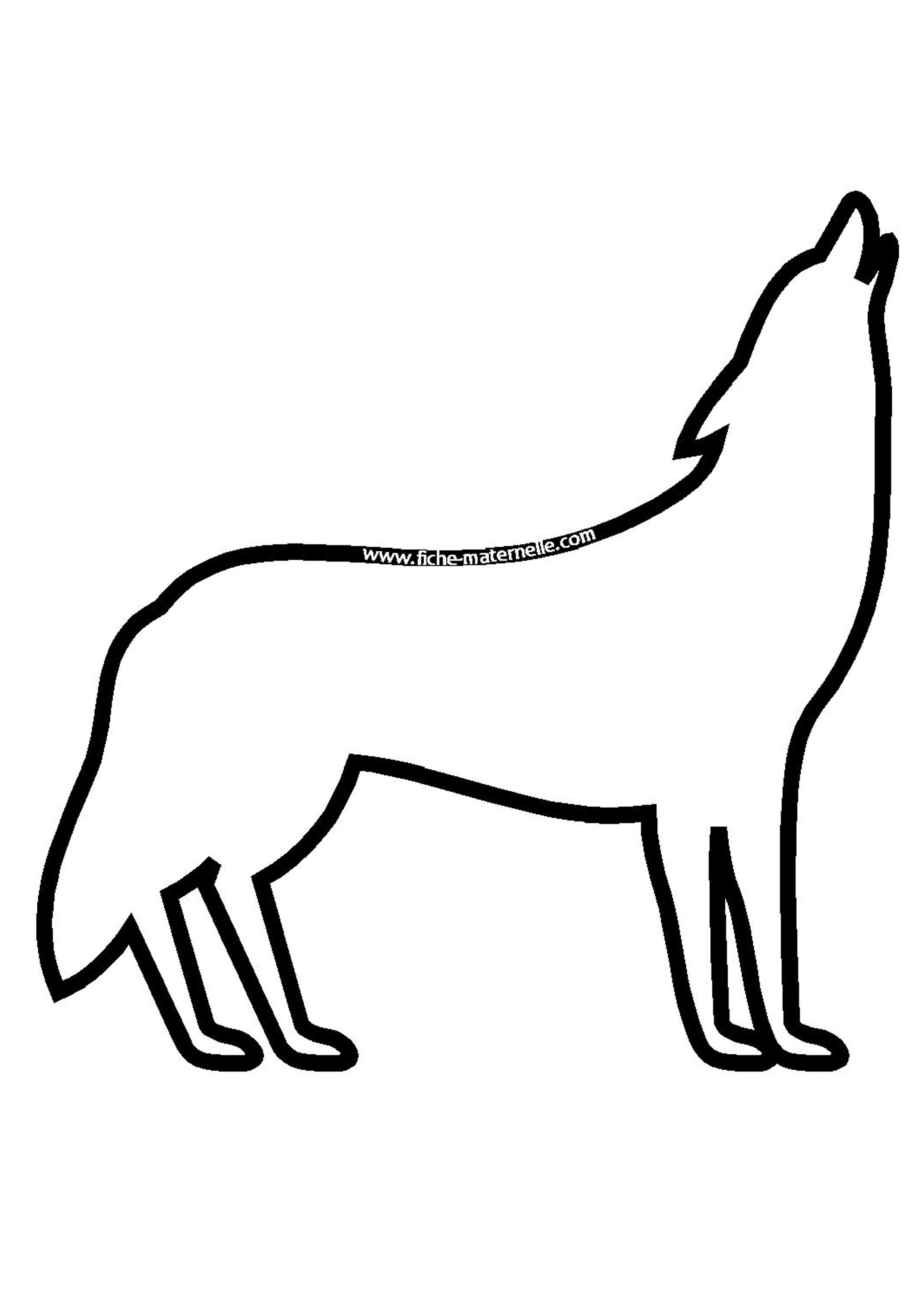 dessin simple loup