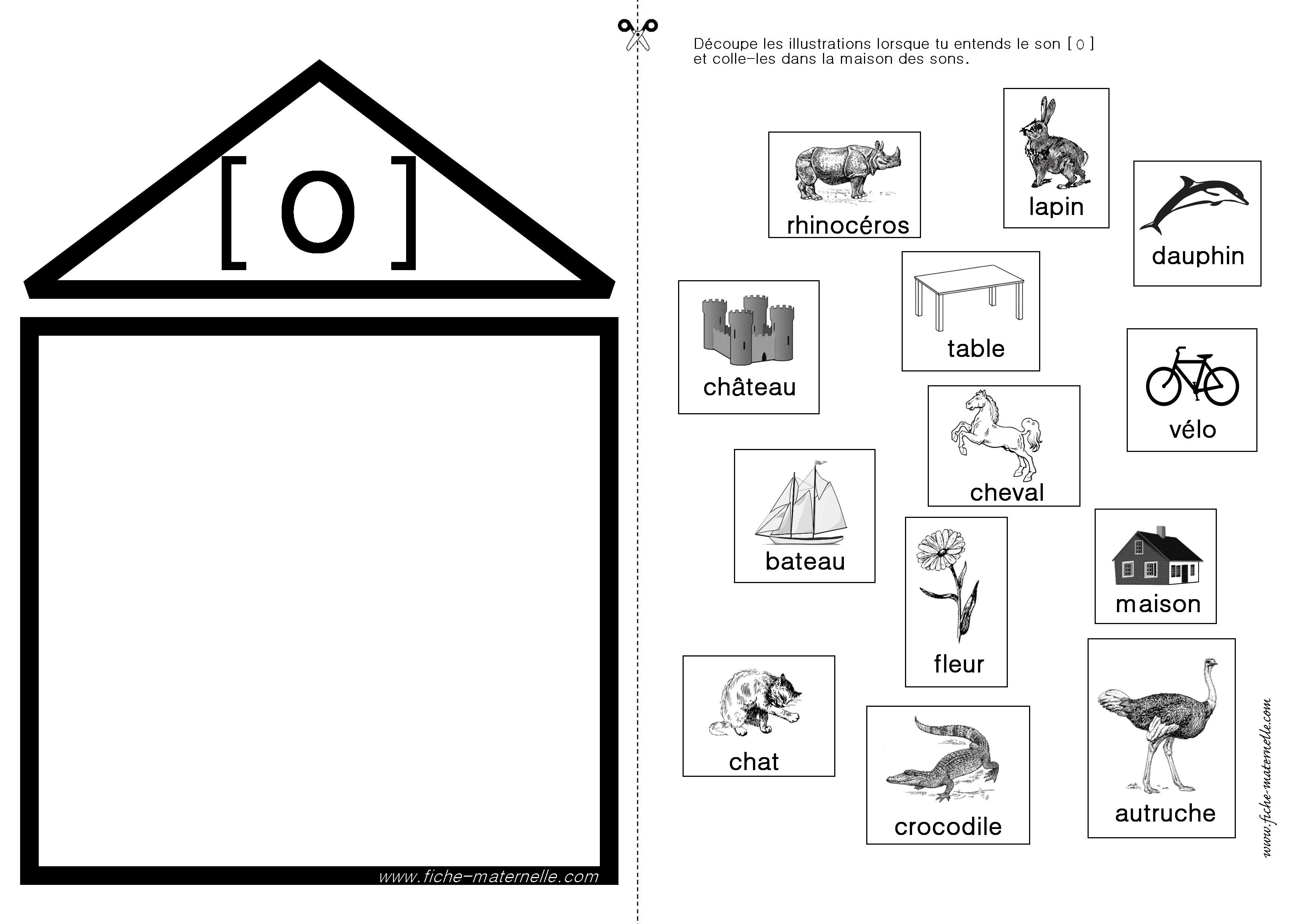 Connu Apprendre à lire en maternelle et CP : exercices autour du son [o] TU55