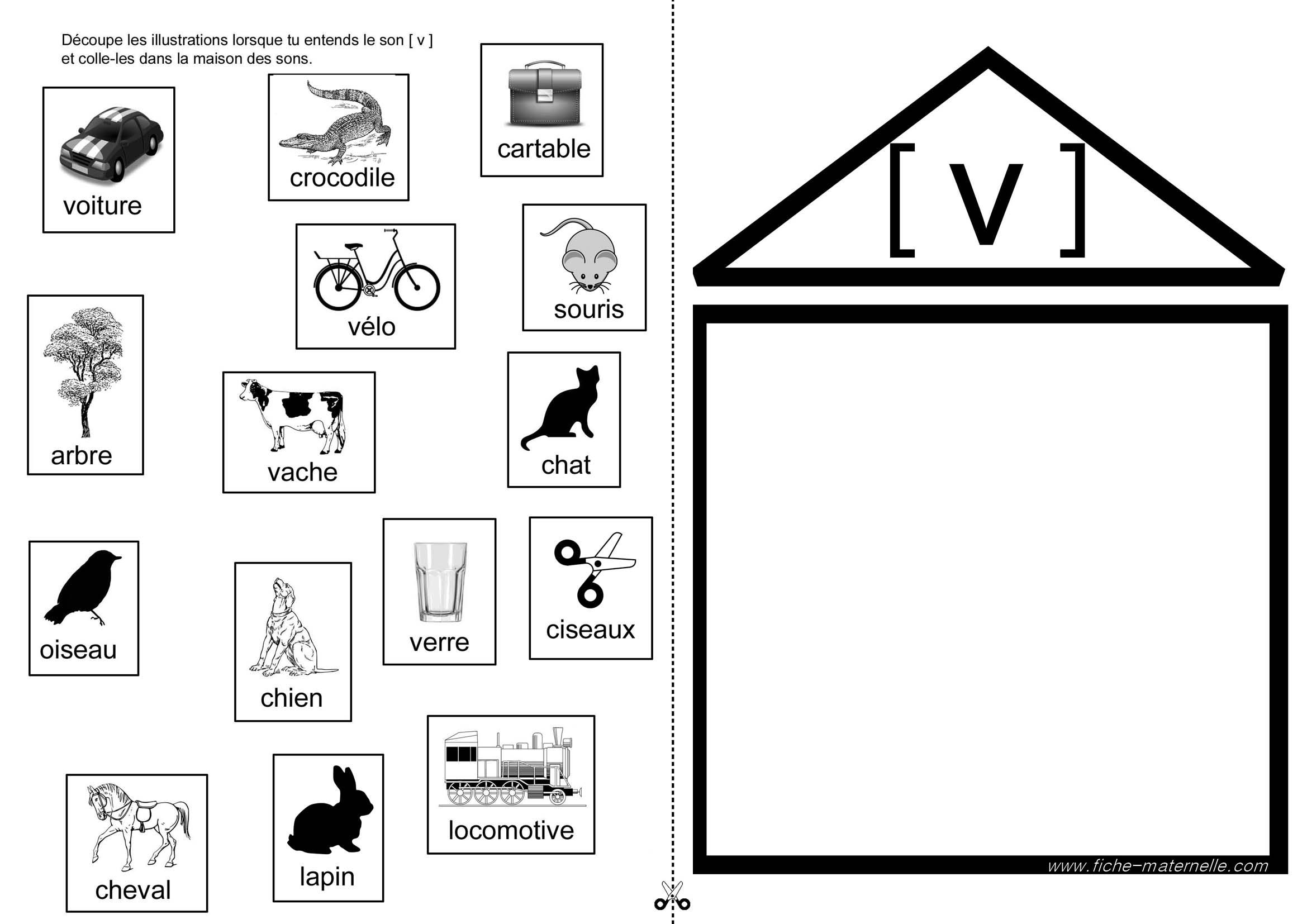 Assez Apprendre à lire en maternelle et CP : exercices autour du son [v] LZ93