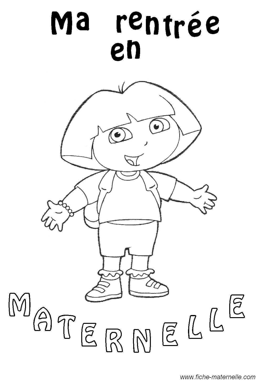 Maternelle rentr e des classes gs et ms - Coloriage classe maternelle ...