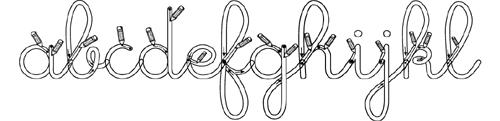 écriture cursive fléchée