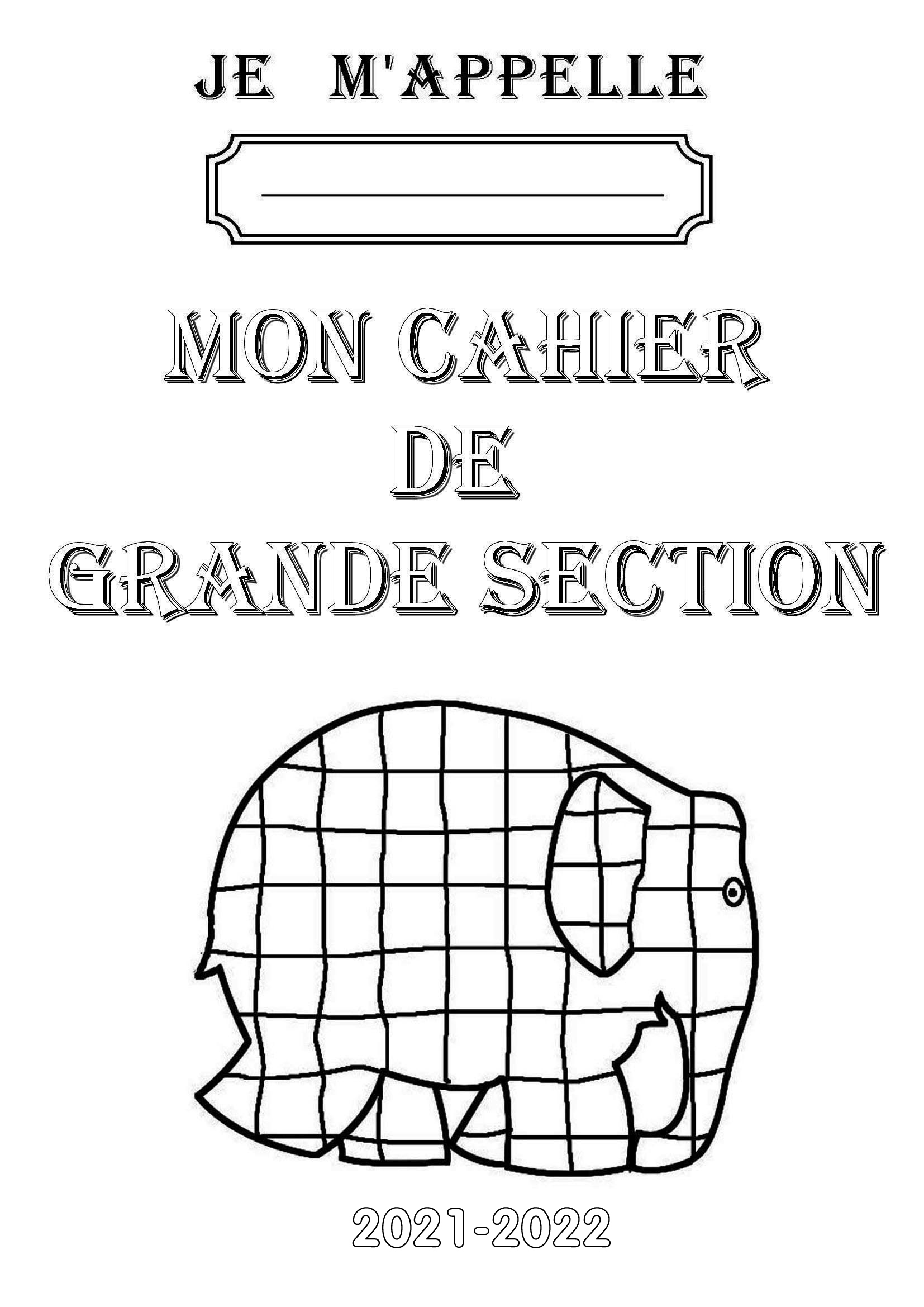 cahier grande section maternelle