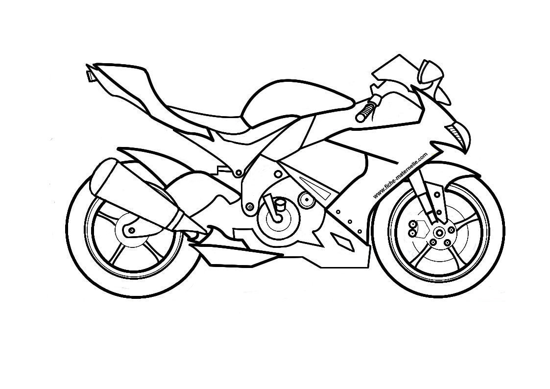 Moto colorier - Moto cross dessin ...