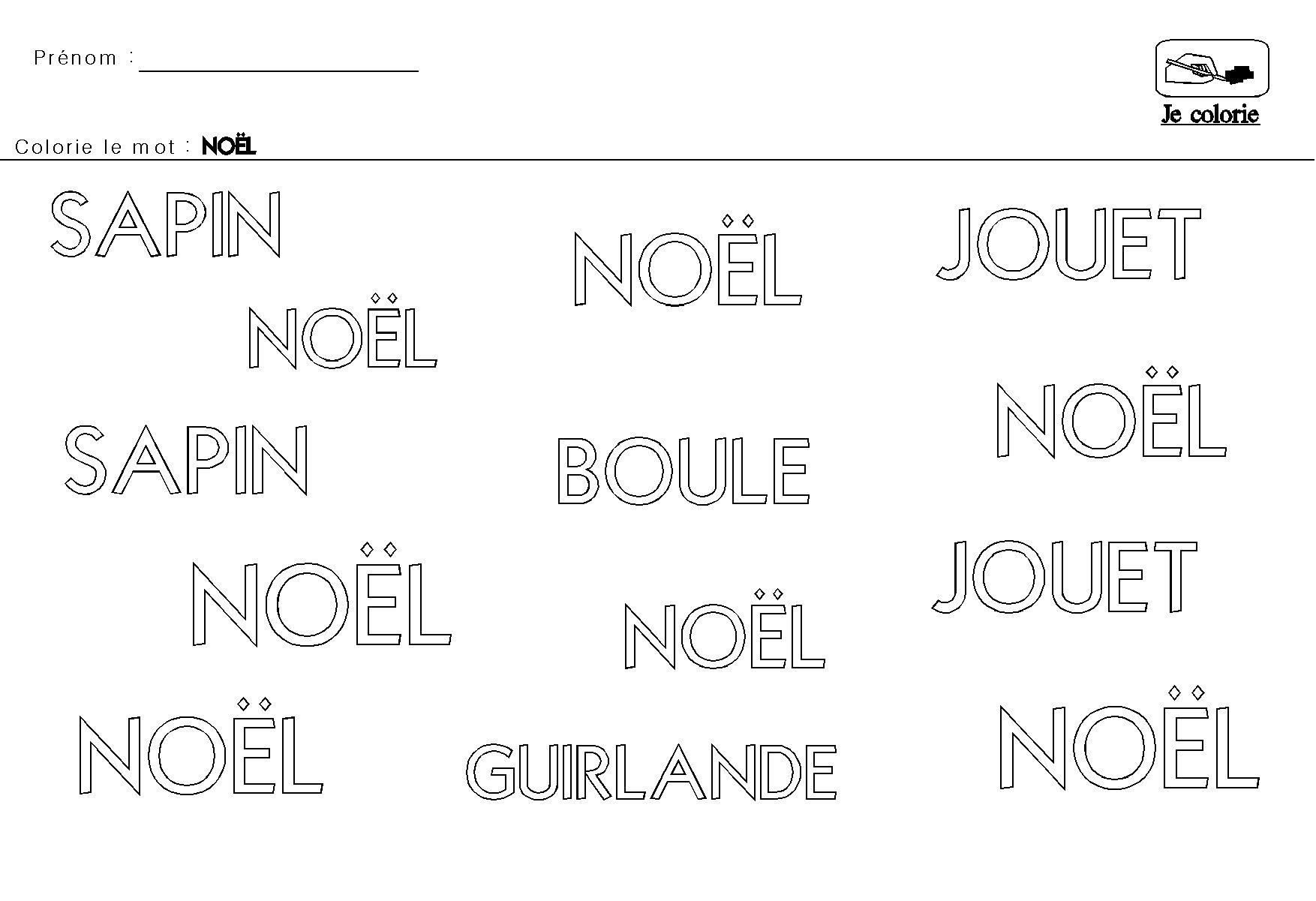 Noel en maternelle - Coloriages noel maternelle ...