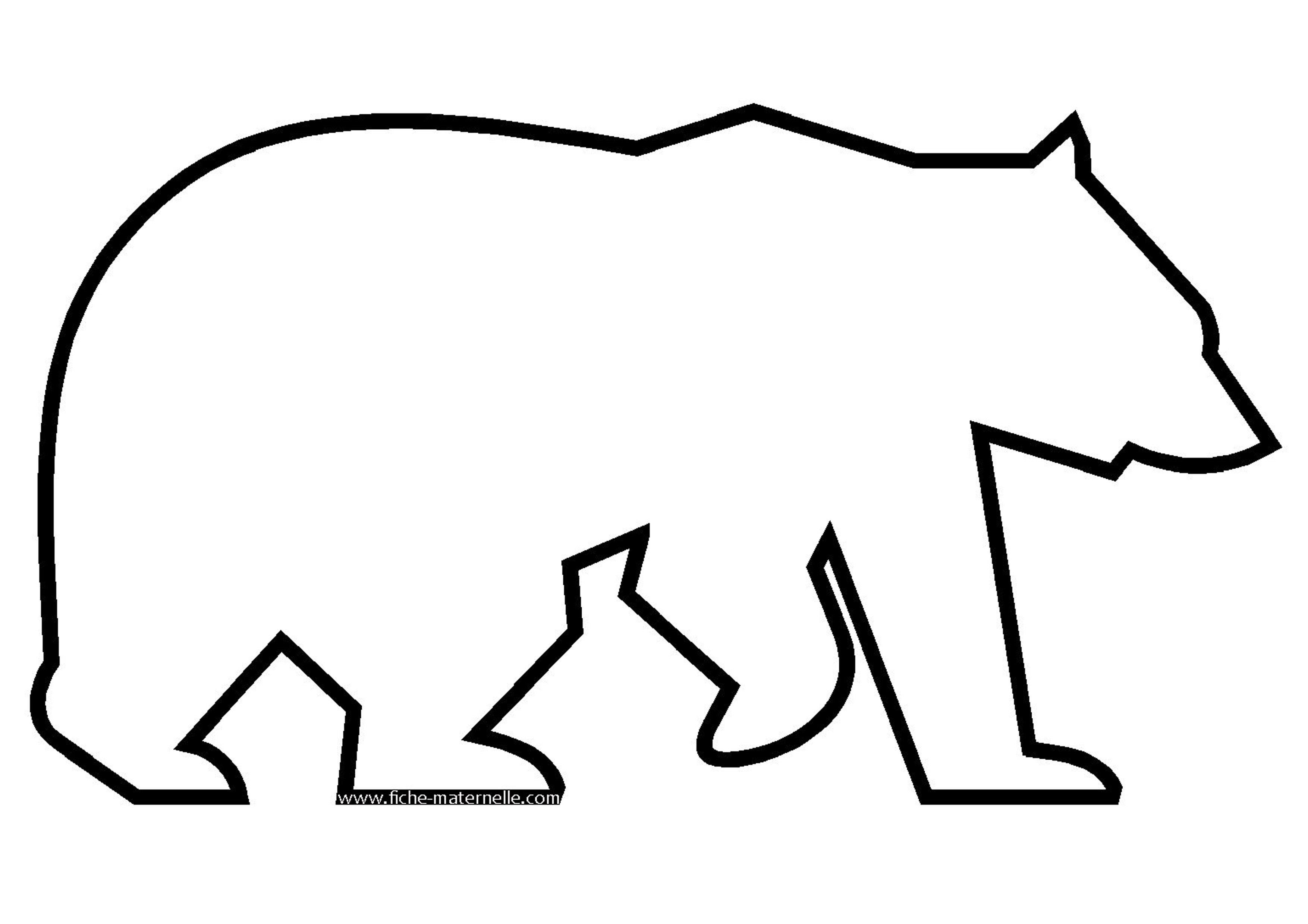 Coloriage - Dessiner un ours en maternelle ...