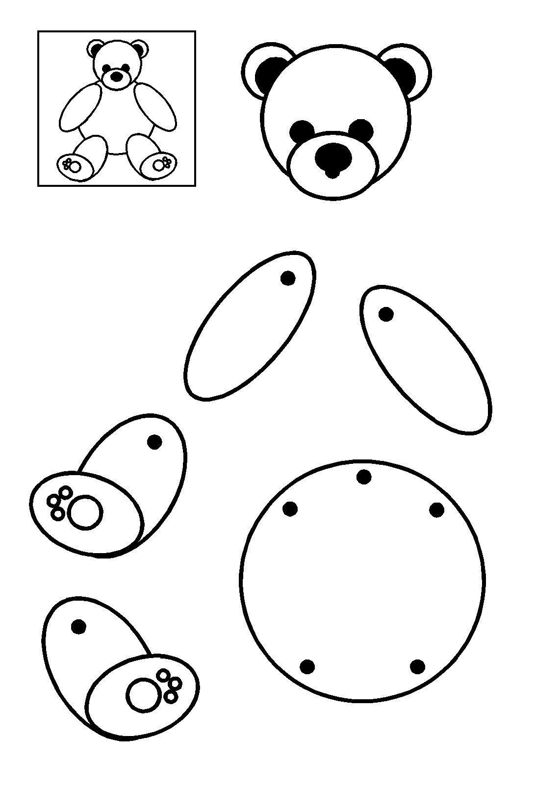 Ourson articul obtenir des personnages et objets en volume par assemblage - Comment faire un bras articule ...