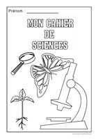Page de garde du cahier de sciences
