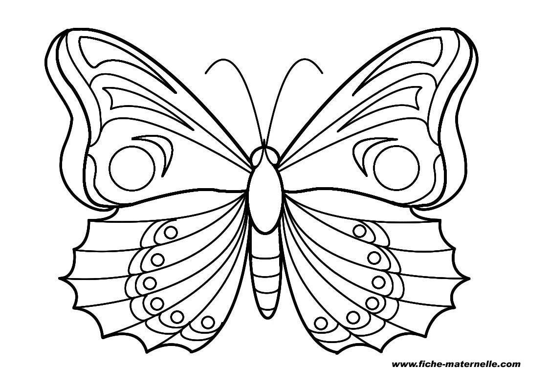 Toutes les fiches propos es sur ce site sont prot g es - Coloriage papillon imprimer ...