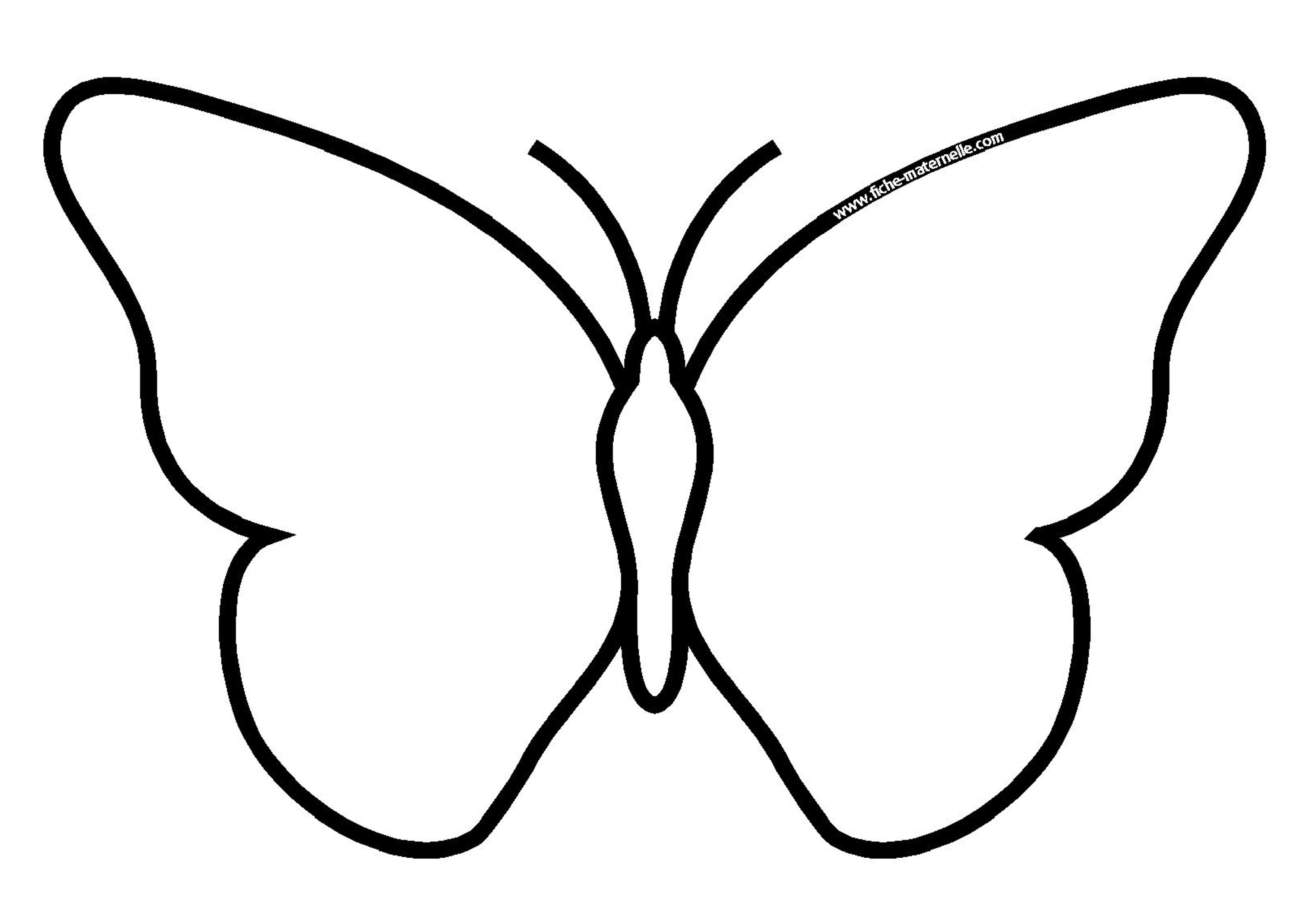 Coloriage - Dessiner un papillon ...