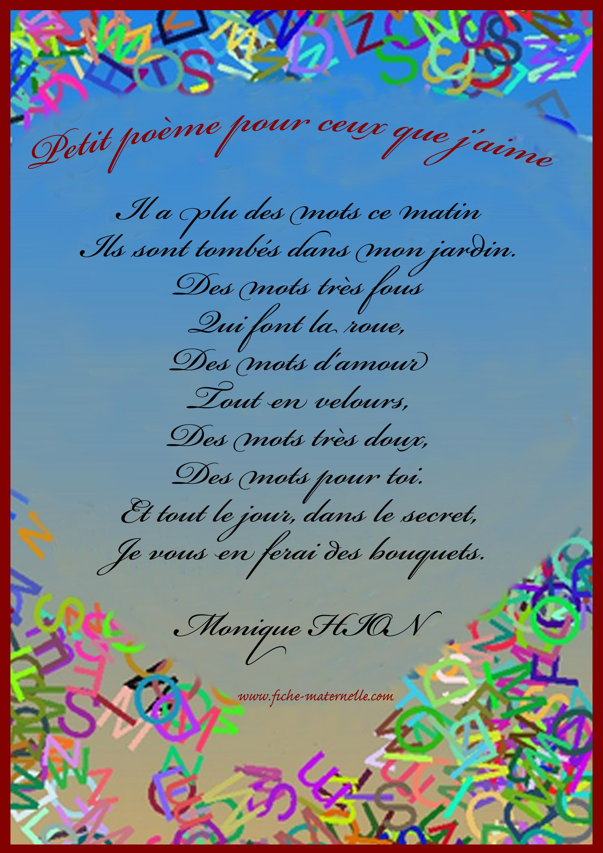 Chansons Et Comptines Jaime Les Poèmes Alemdadly