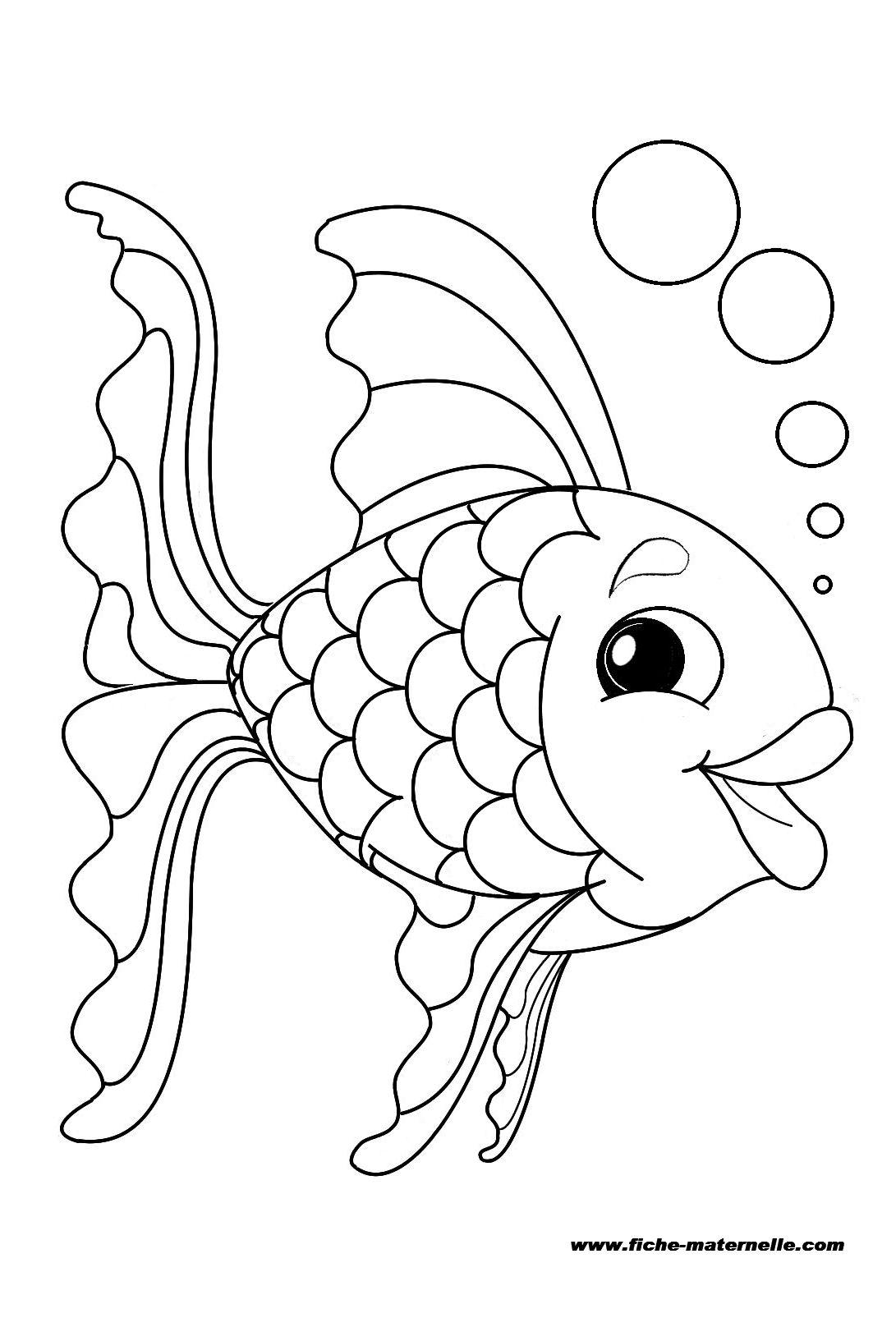 Coloriage un poisson - Poisson dessin ...