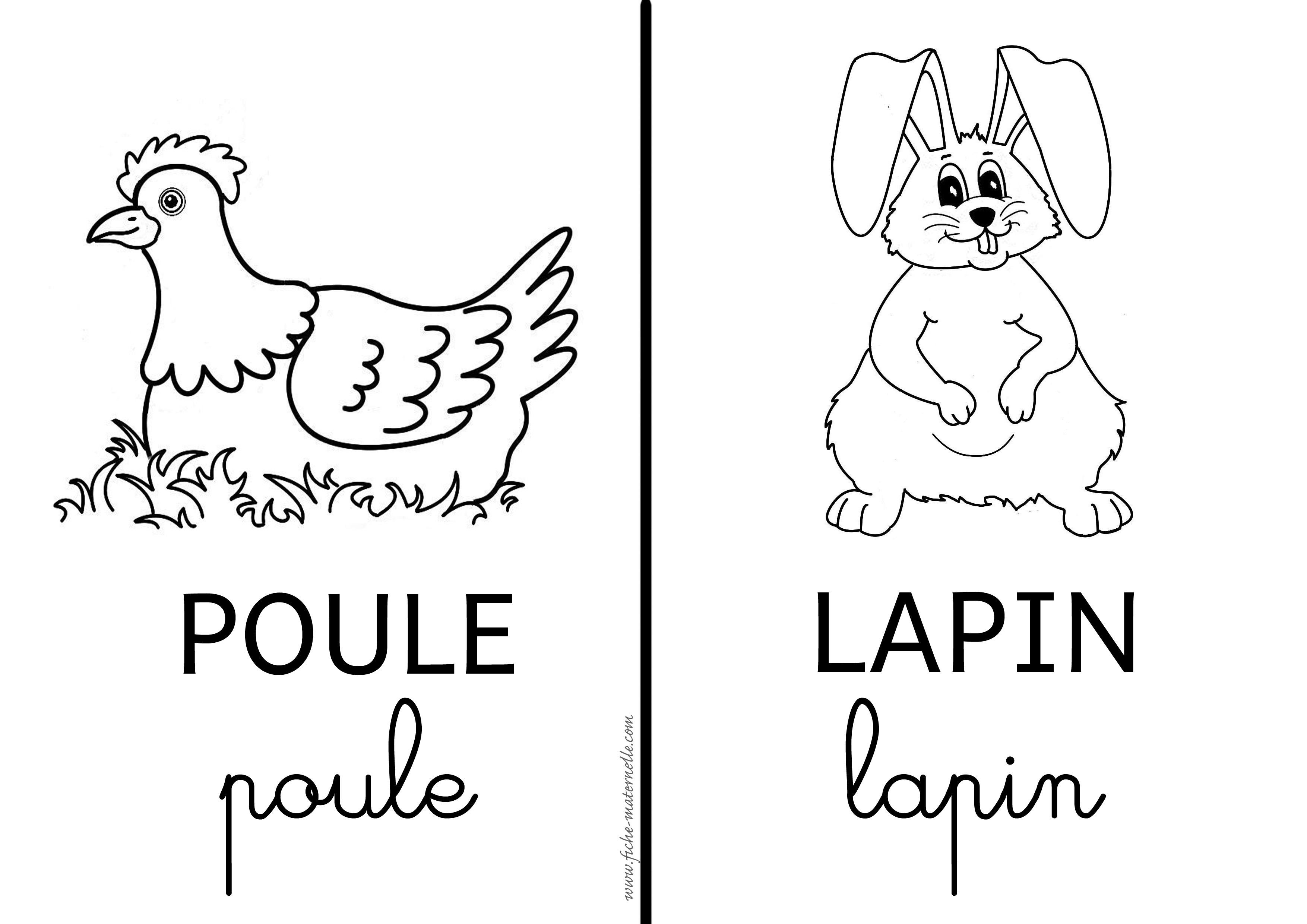Poule et lapin de p ques - Coloriage paques maternelle ...