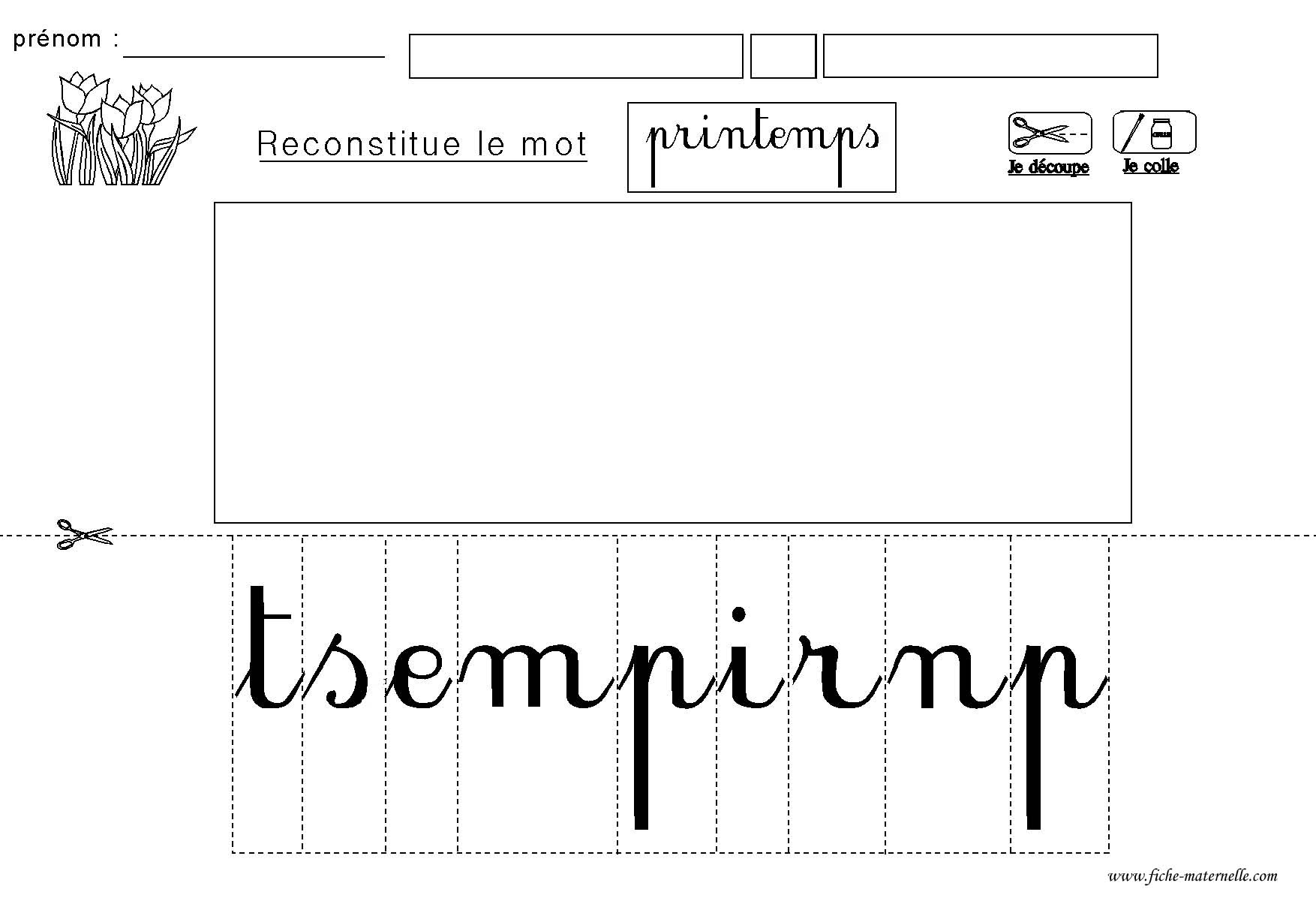 Criture script maternelle mb17 jornalagora - Le printemps gs ...