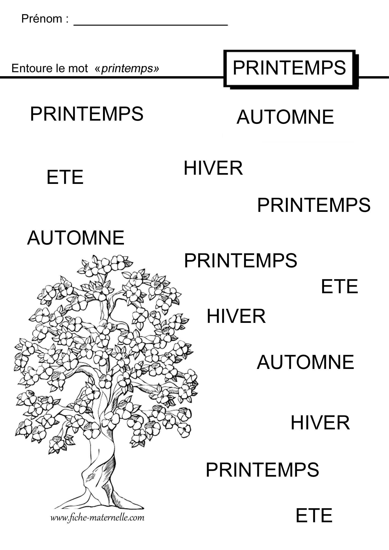 Activités Autour Du Printemps